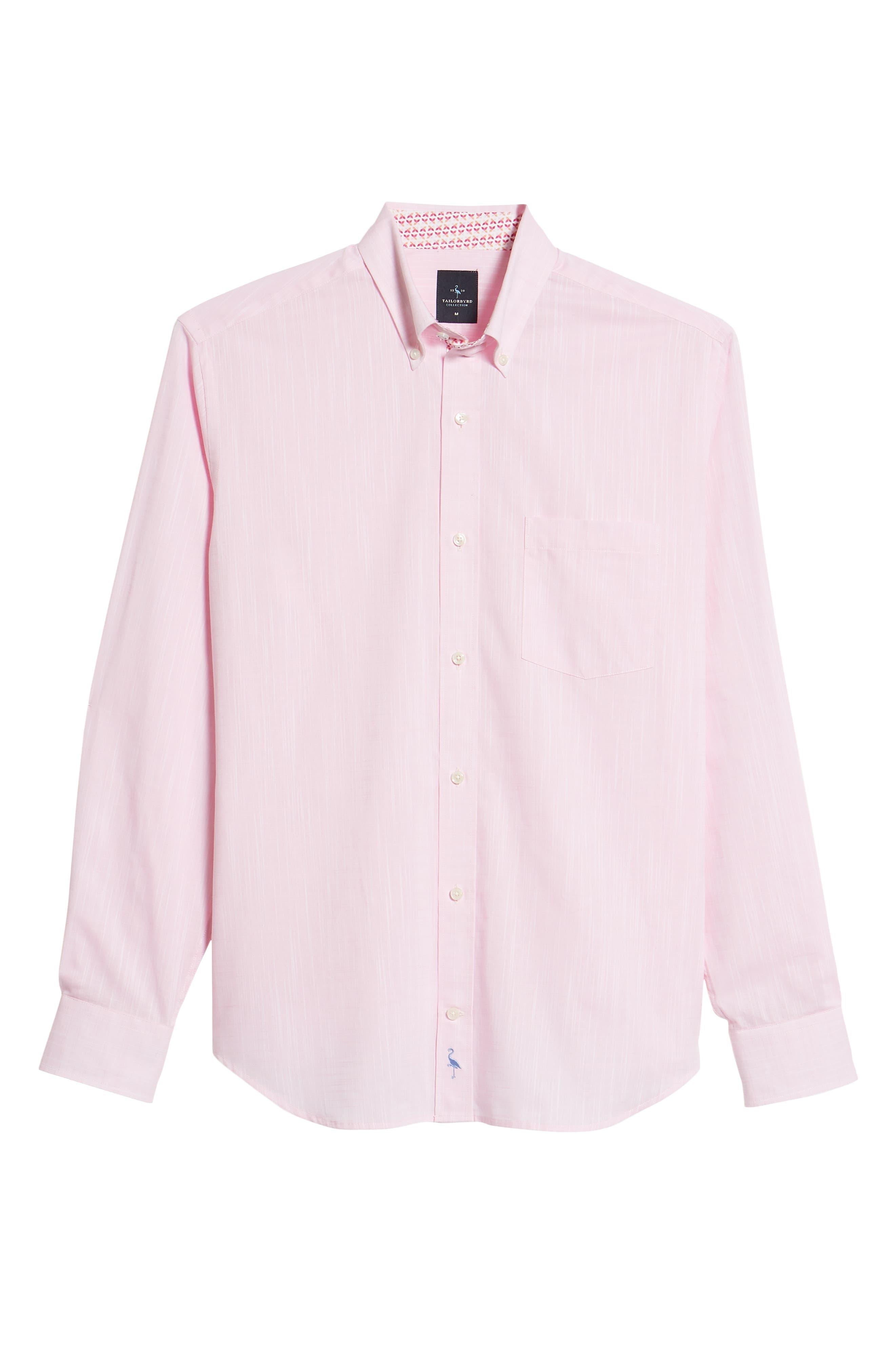 Kade Regular Fit Sport Shirt,                             Alternate thumbnail 6, color,                             Pink