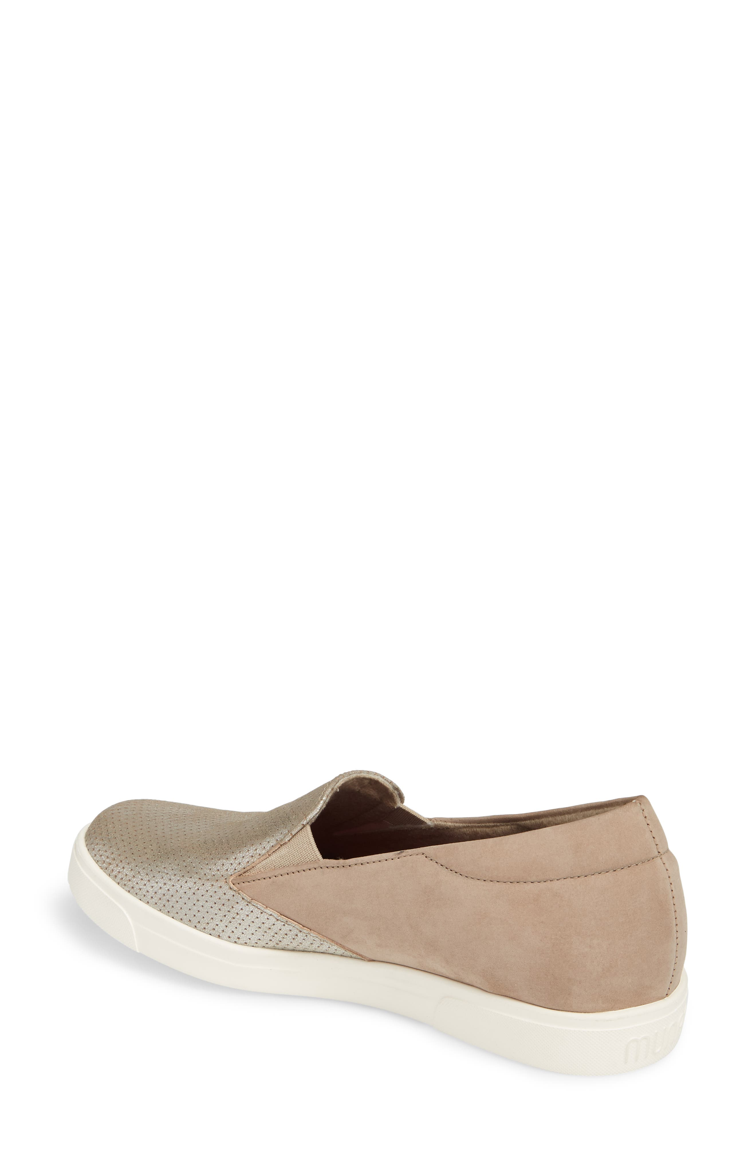 Lulu Slip-On Sneaker,                             Alternate thumbnail 2, color,                             Brushed Silver Nubuck