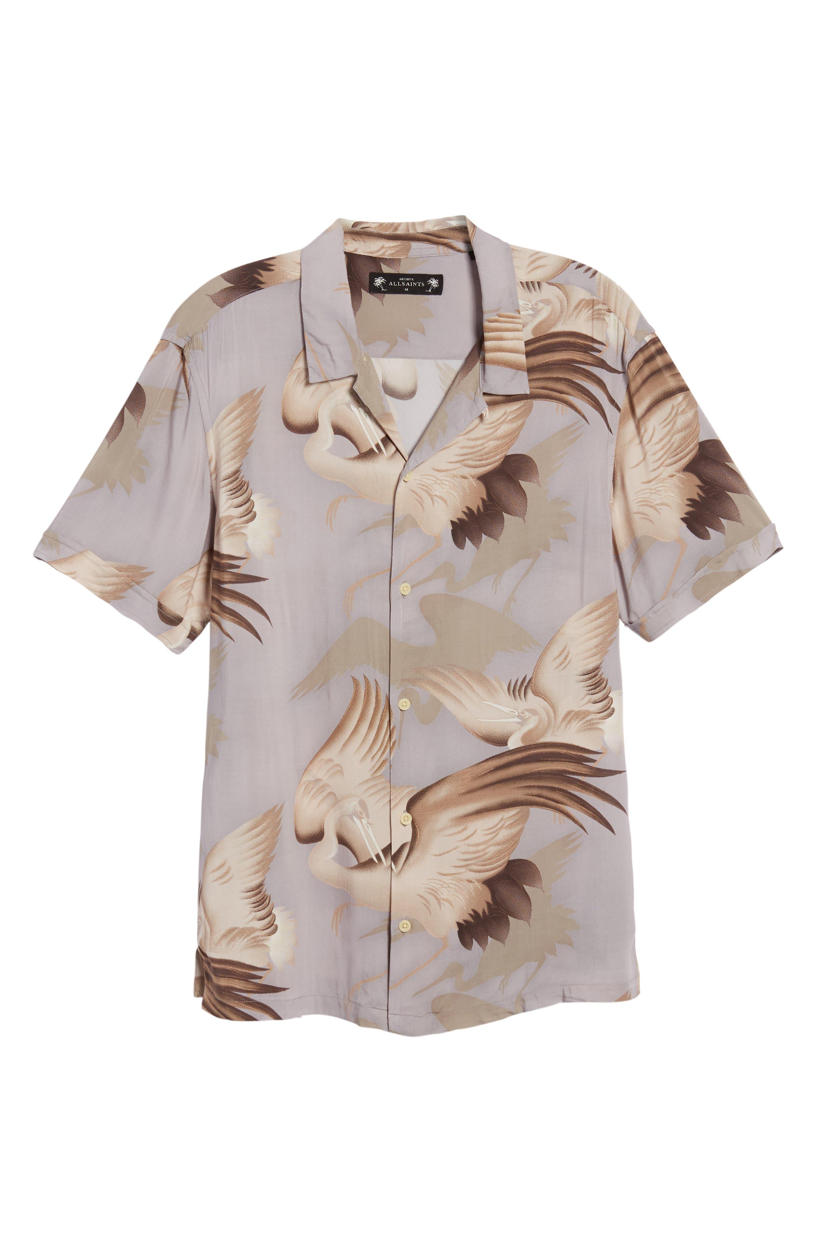 Wader Regular Fit Short Sleeve Sport Shirt,                             Alternate thumbnail 6, color,                             Chrome Grey