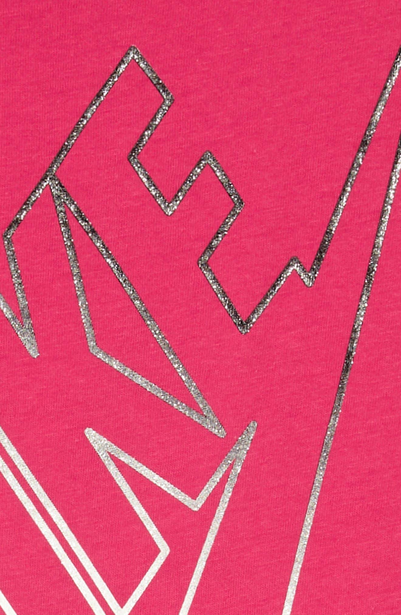 Futura T-Shirt Dress,                             Alternate thumbnail 2, color,                             Rush Pink