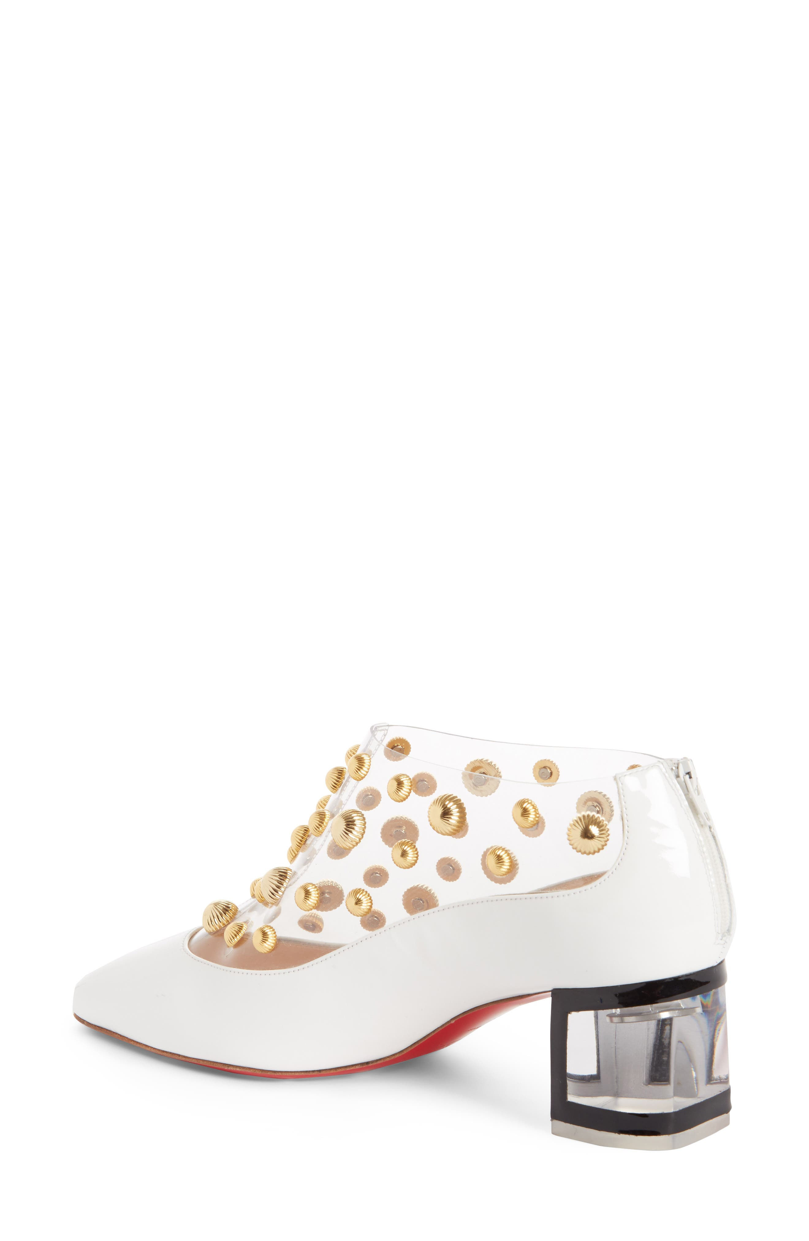Alternate Image 2  - Christian Louboutin Studded Clear Pump (Women)
