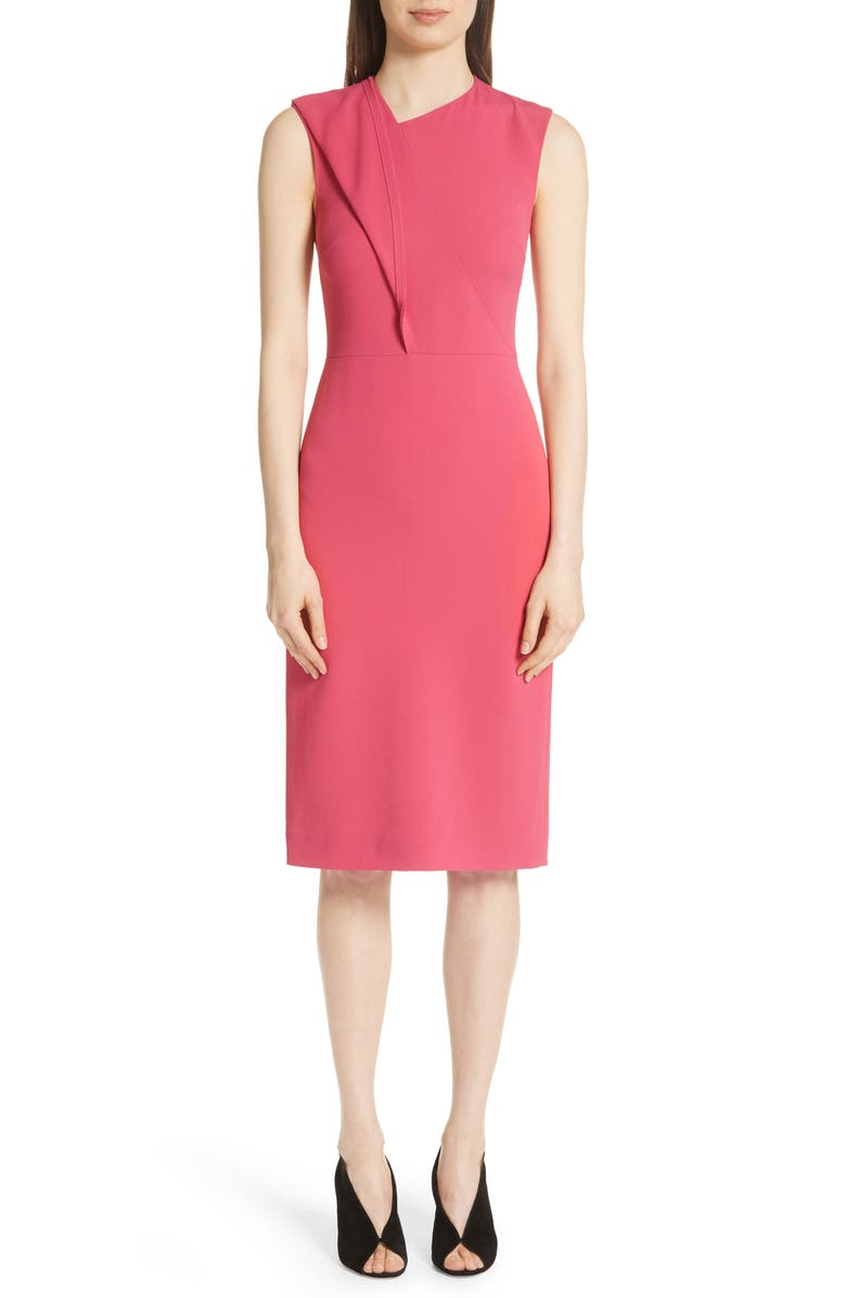 Fold Detail Compact Crepe Dress