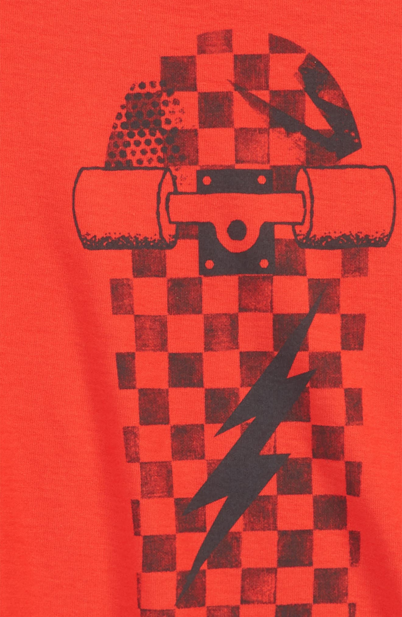 Skateboard T-Shirt,                             Alternate thumbnail 2, color,                             Stoplight