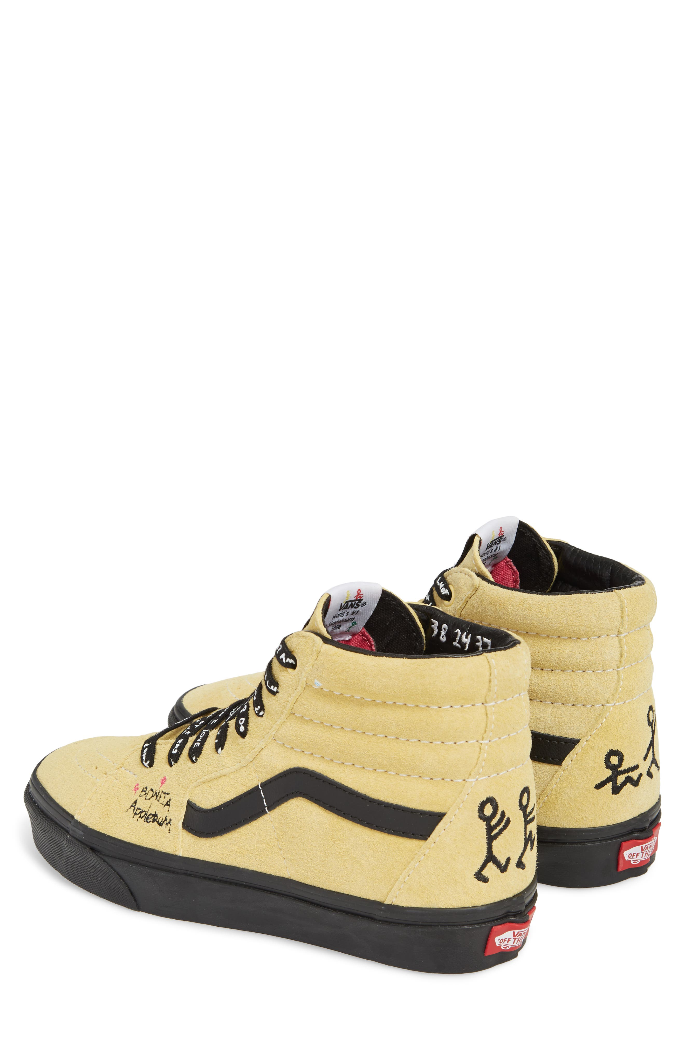 ATCQ Sk8-Hi Sneaker,                             Alternate thumbnail 2, color,                             Mellow Yellow/ Spectra Yellow