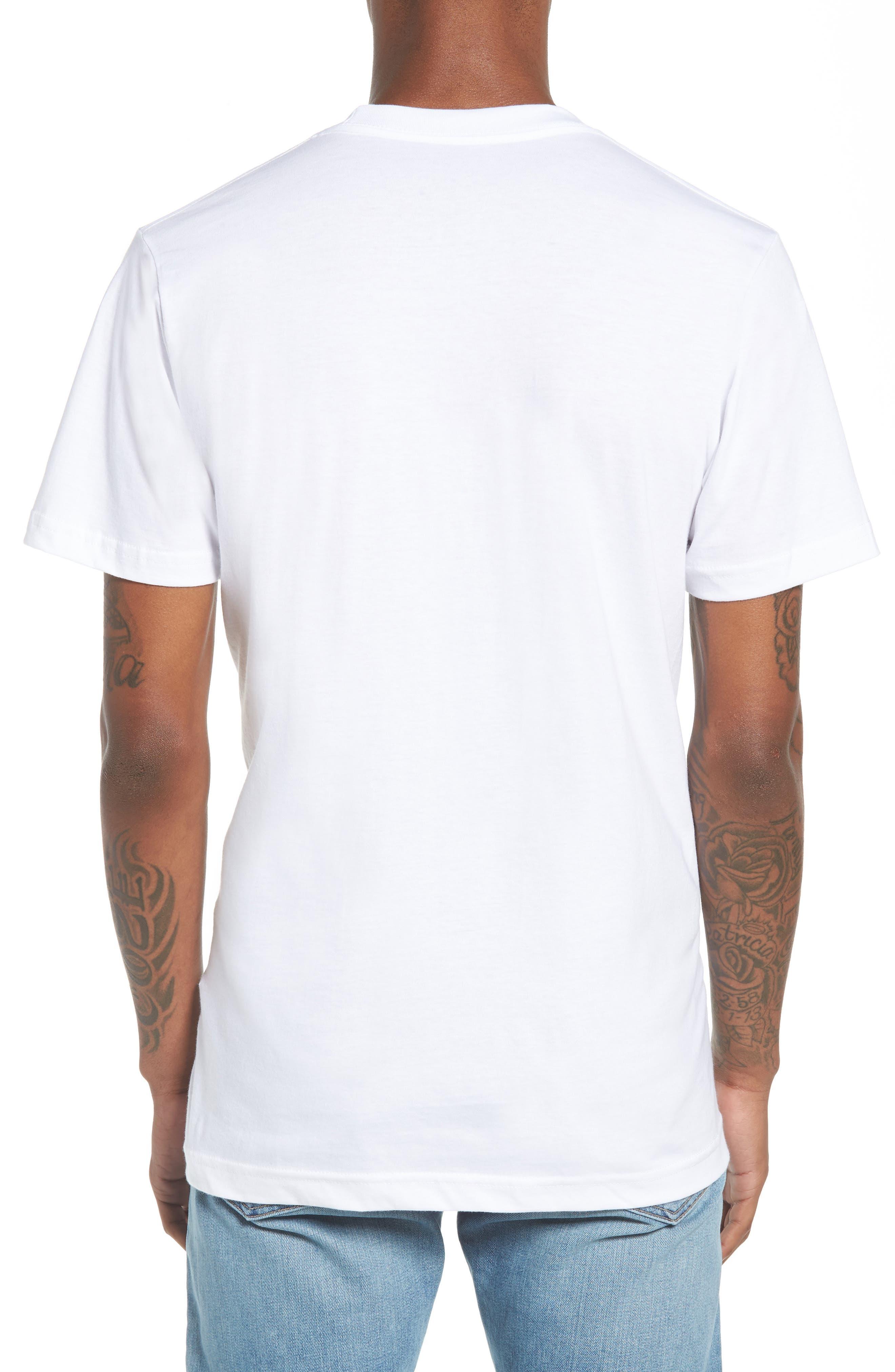 NY Apple Graphic T-Shirt,                             Alternate thumbnail 2, color,                             White