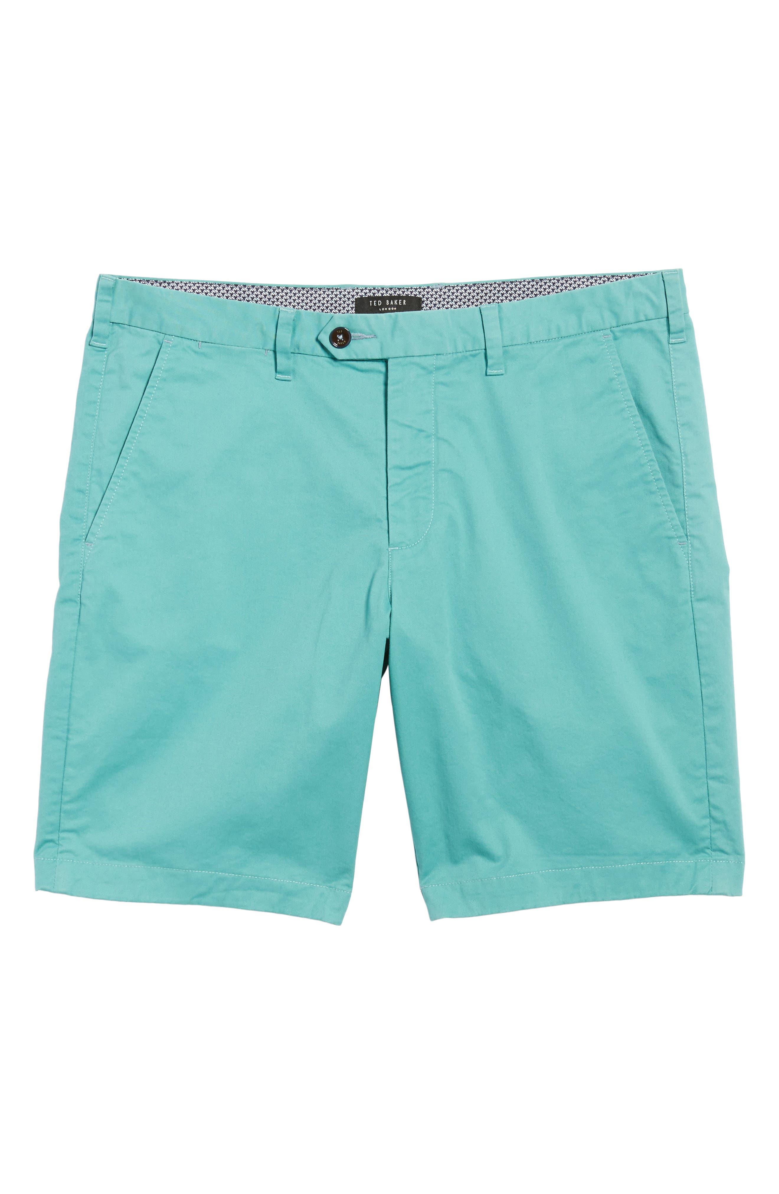Proshtt Stretch Cotton Shorts,                             Alternate thumbnail 6, color,                             Pale Green