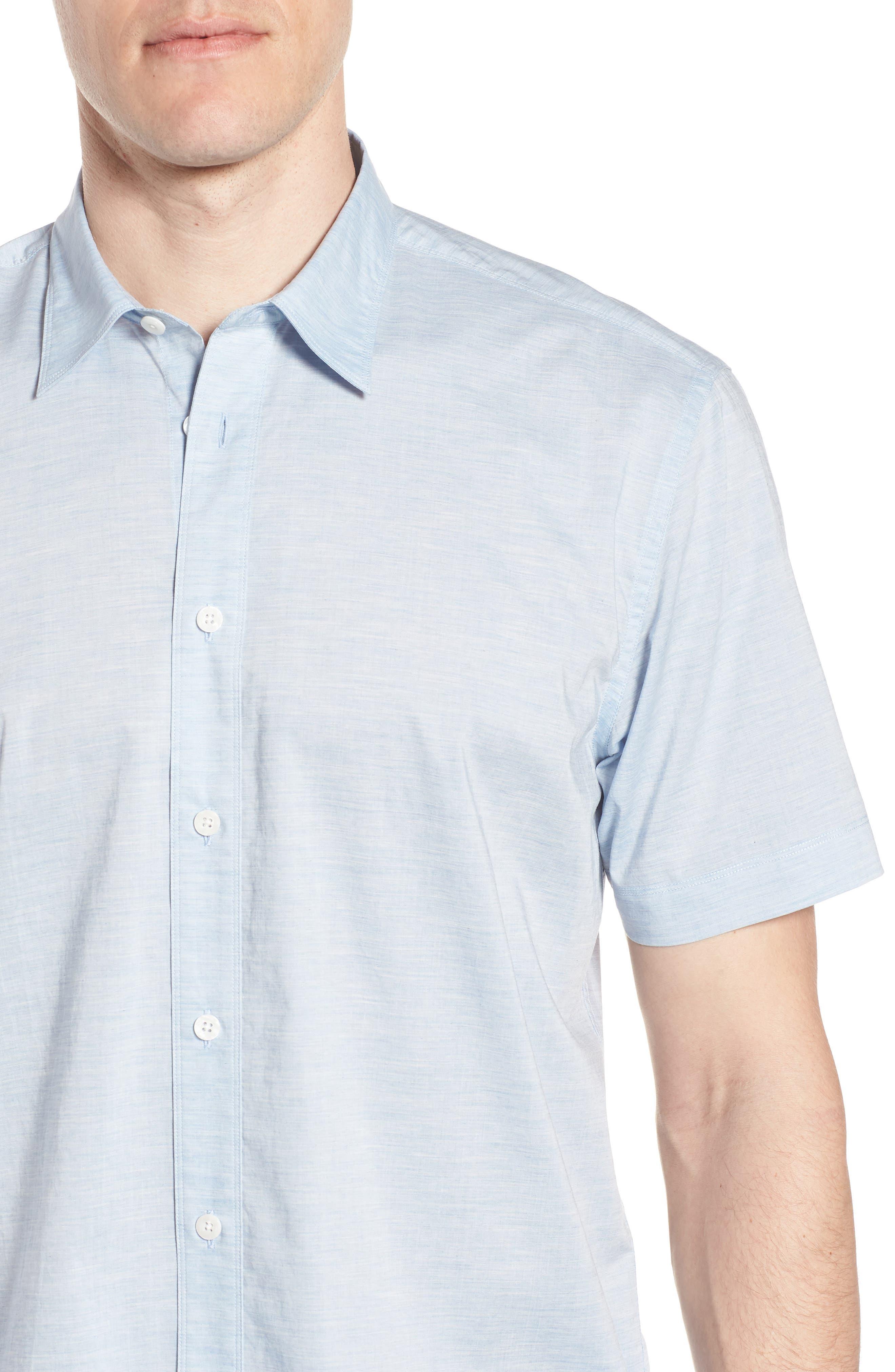 Solana Regular Fit Short Sleeve Sport Shirt,                             Alternate thumbnail 2, color,                             Blue