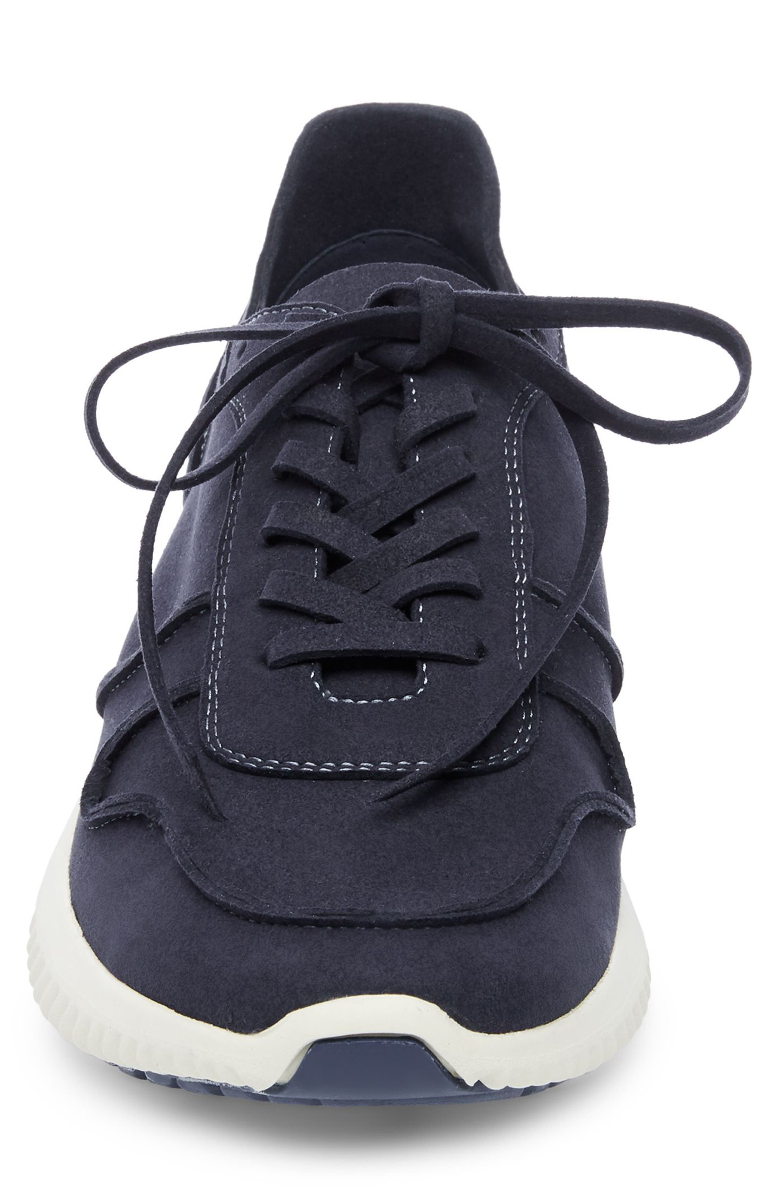 Rolf Low Top Sneaker,                             Alternate thumbnail 4, color,                             Navy Leather