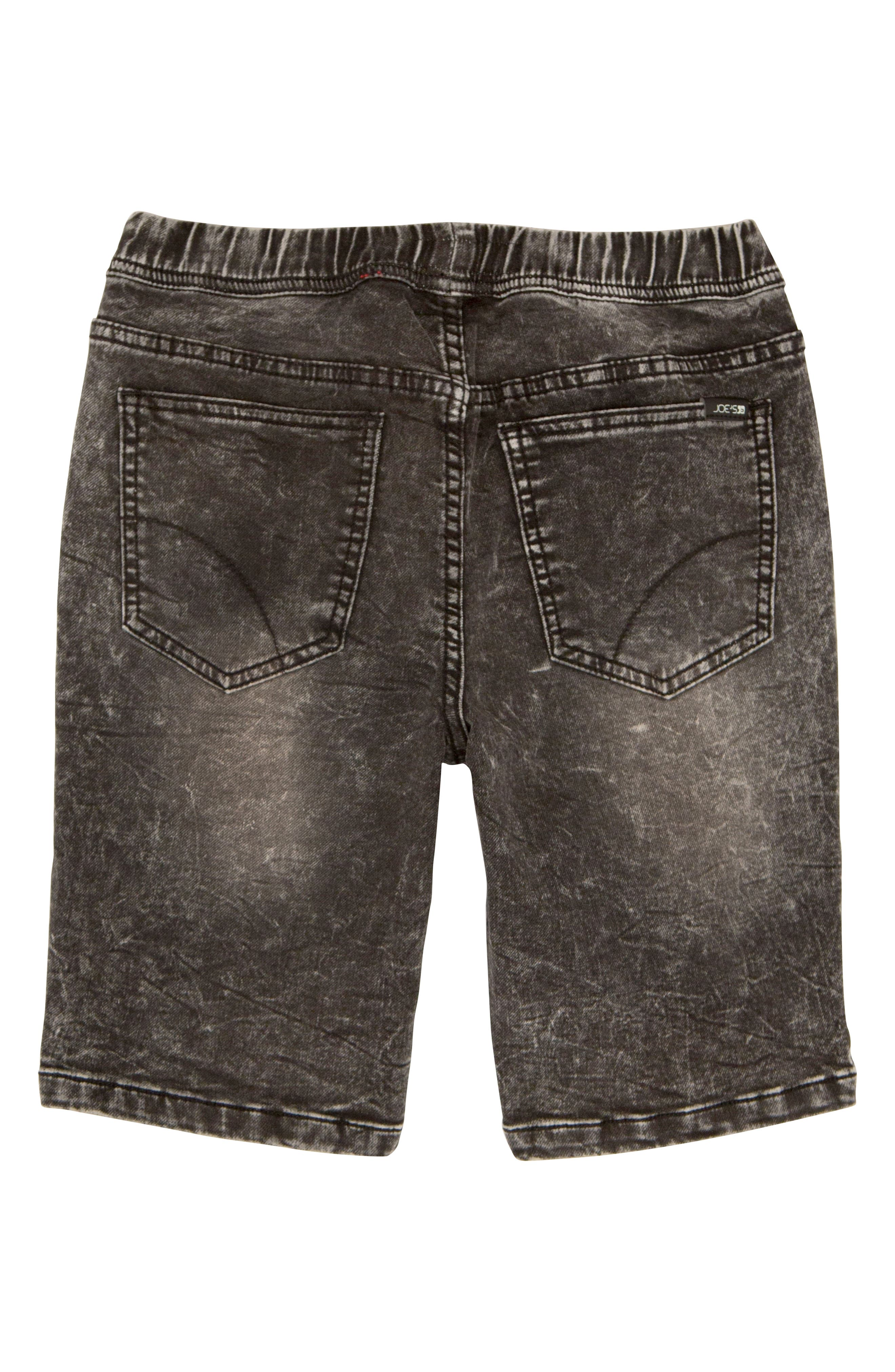 The Jogger Stretch Denim Shorts,                             Alternate thumbnail 2, color,                             Black Vintage