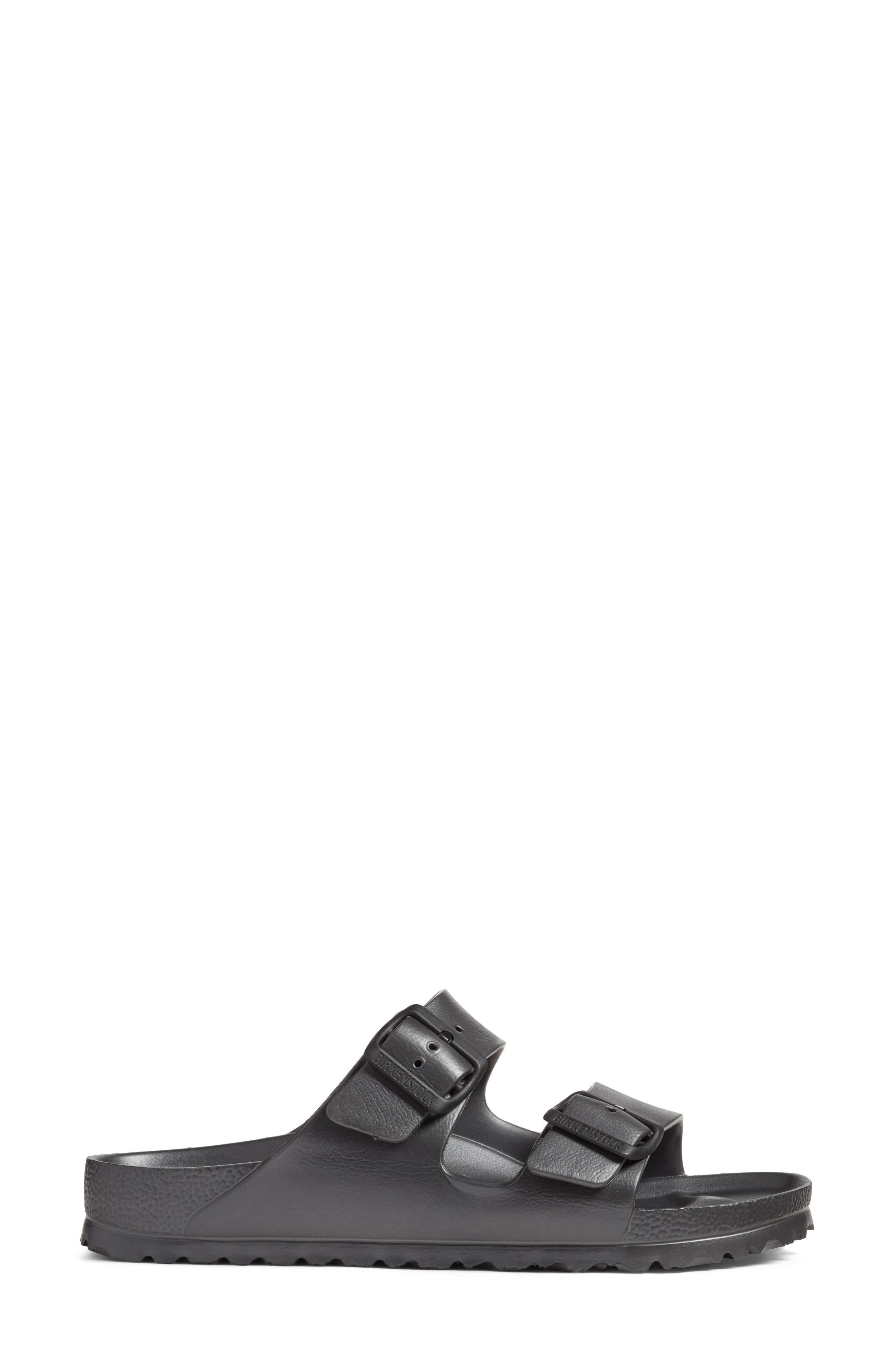 Essentials - Arizona Slide Sandal,                             Alternate thumbnail 3, color,                             Metallic Anthracite