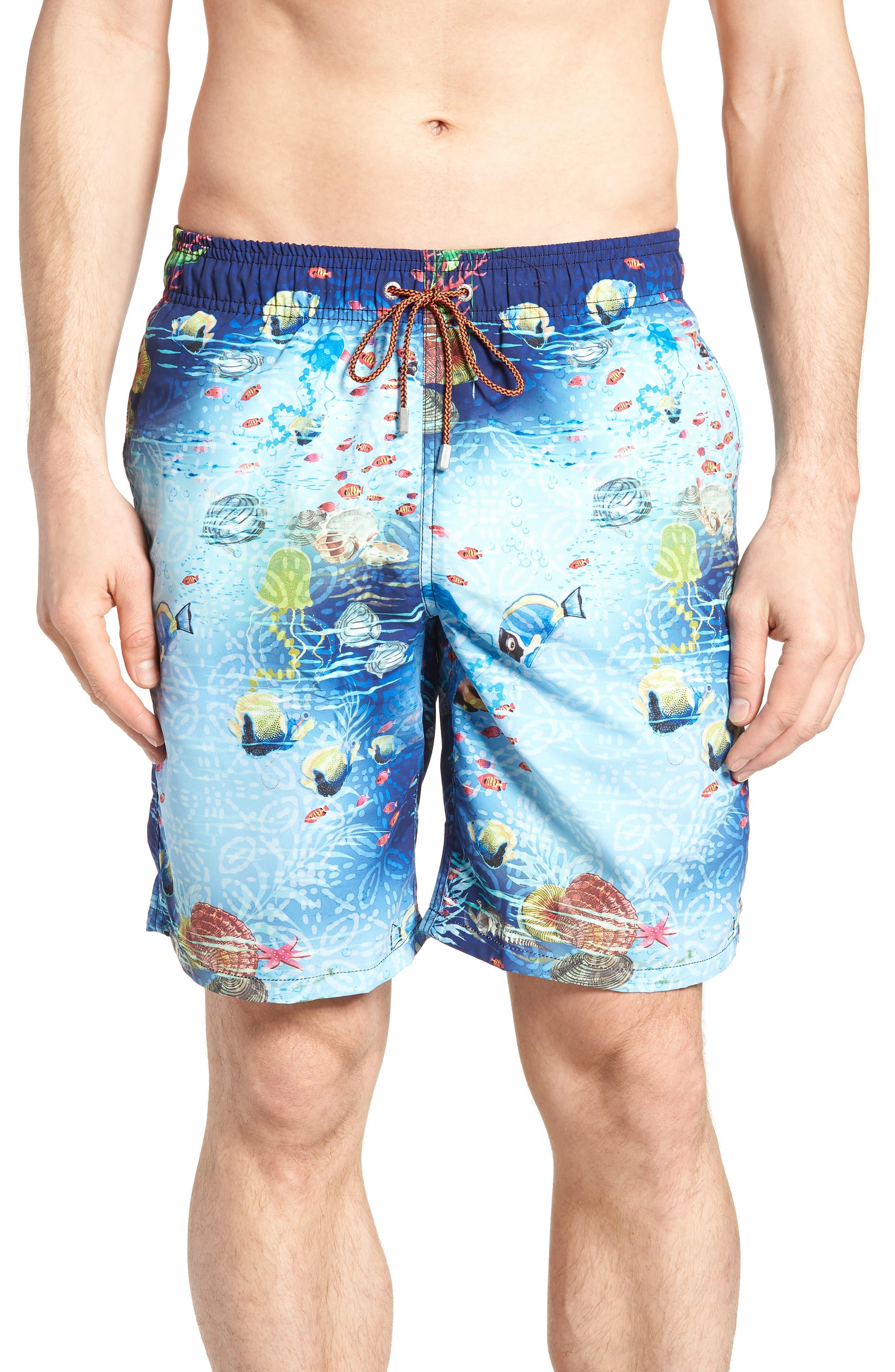 Swim Trunks,                         Main,                         color, Turquoise