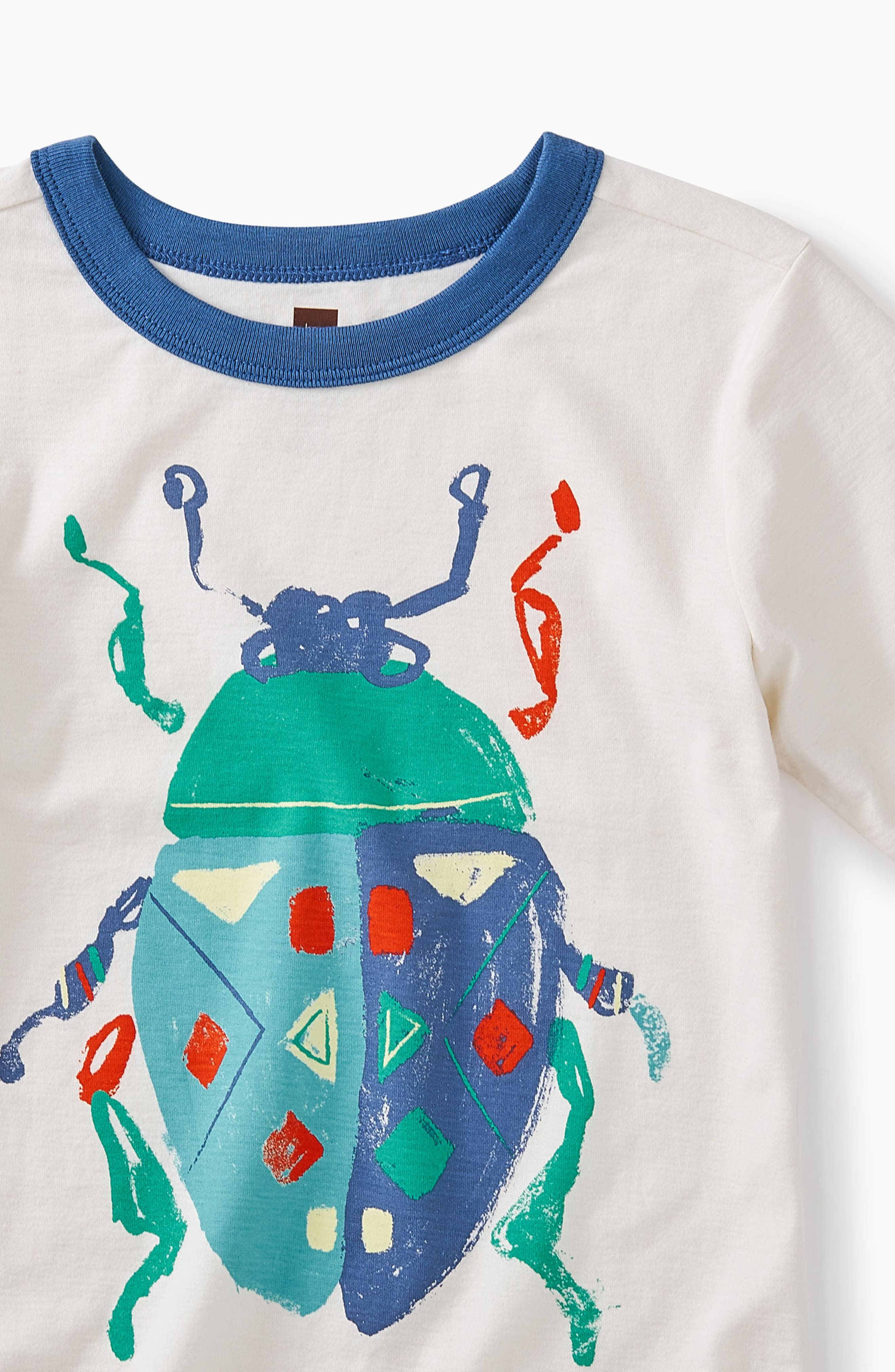 Beetle Graphic T-Shirt,                             Alternate thumbnail 2, color,                             Chalk