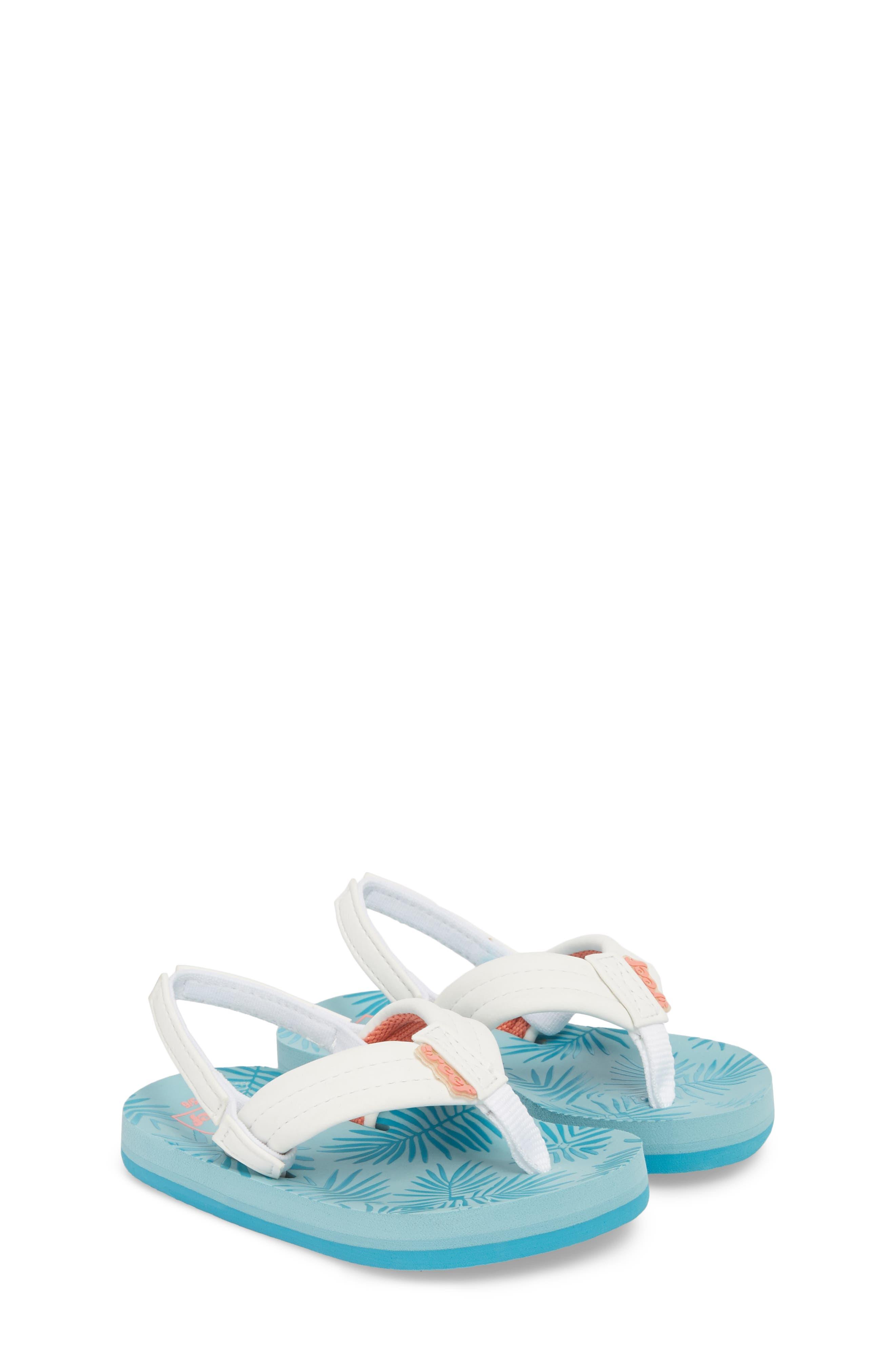 Little Reef Footprints Sandal,                             Alternate thumbnail 3, color,                             Blue