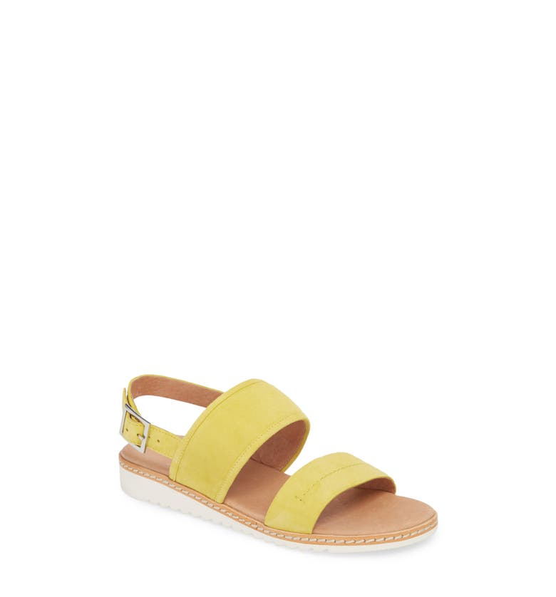 Claire Slingback Sandal,                         Main,                         color, Mustard Suede