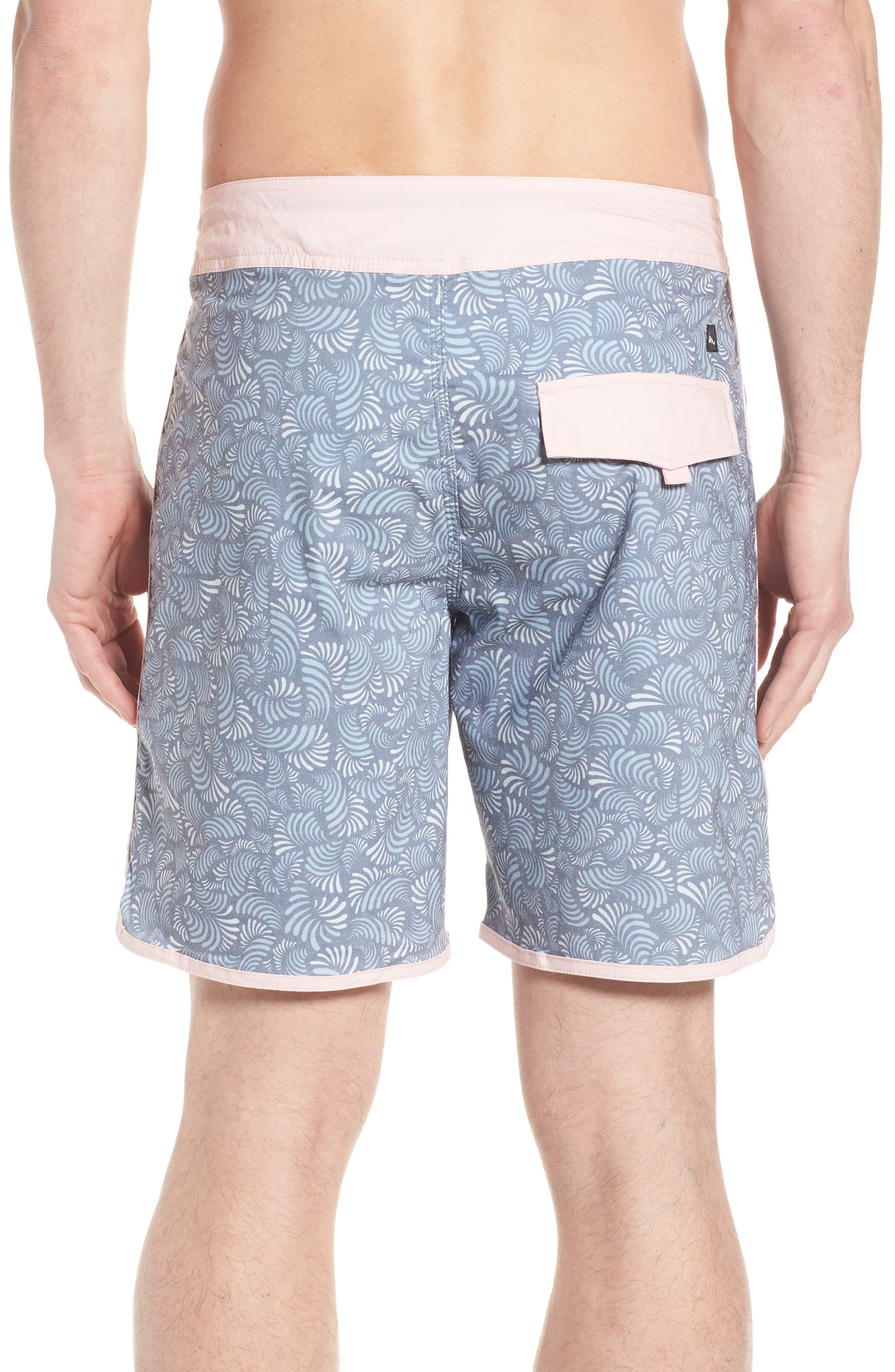Seeker Board Shorts,                             Alternate thumbnail 2, color,                             Light Pink/ Blue