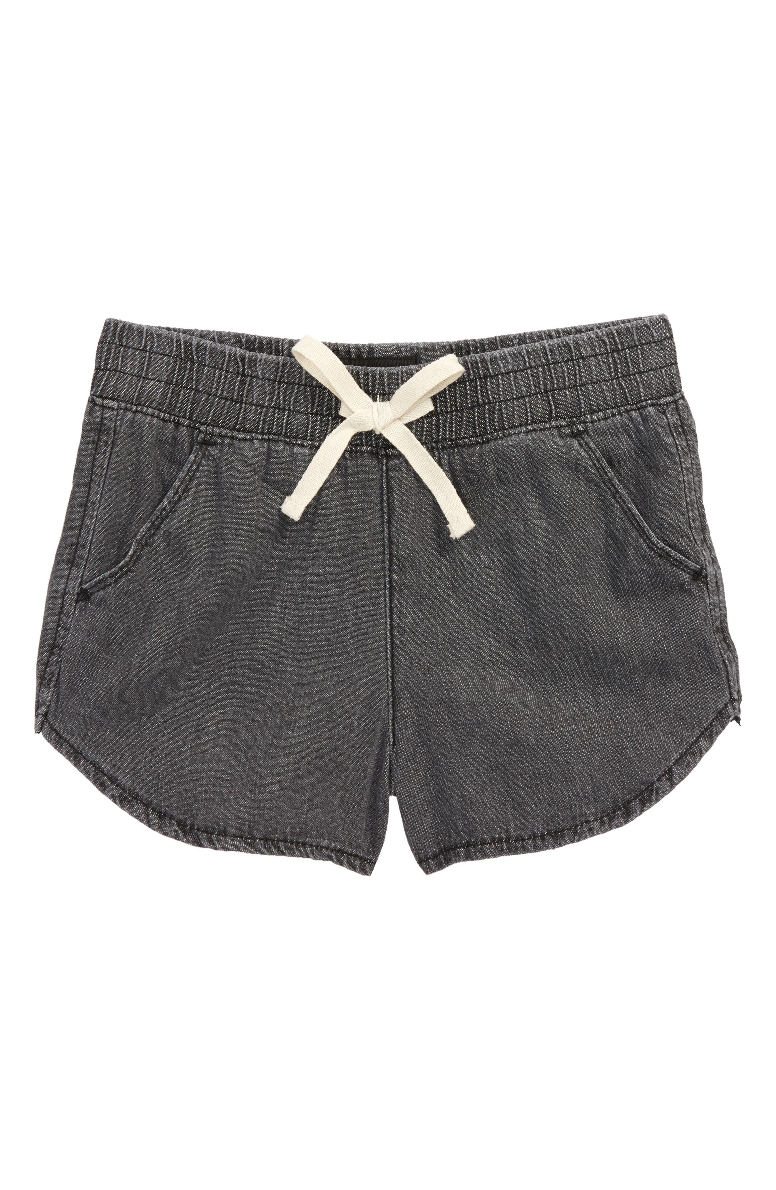 Nicky Chambray Shorts,                         Main,                         color, Acw-Acid Wash
