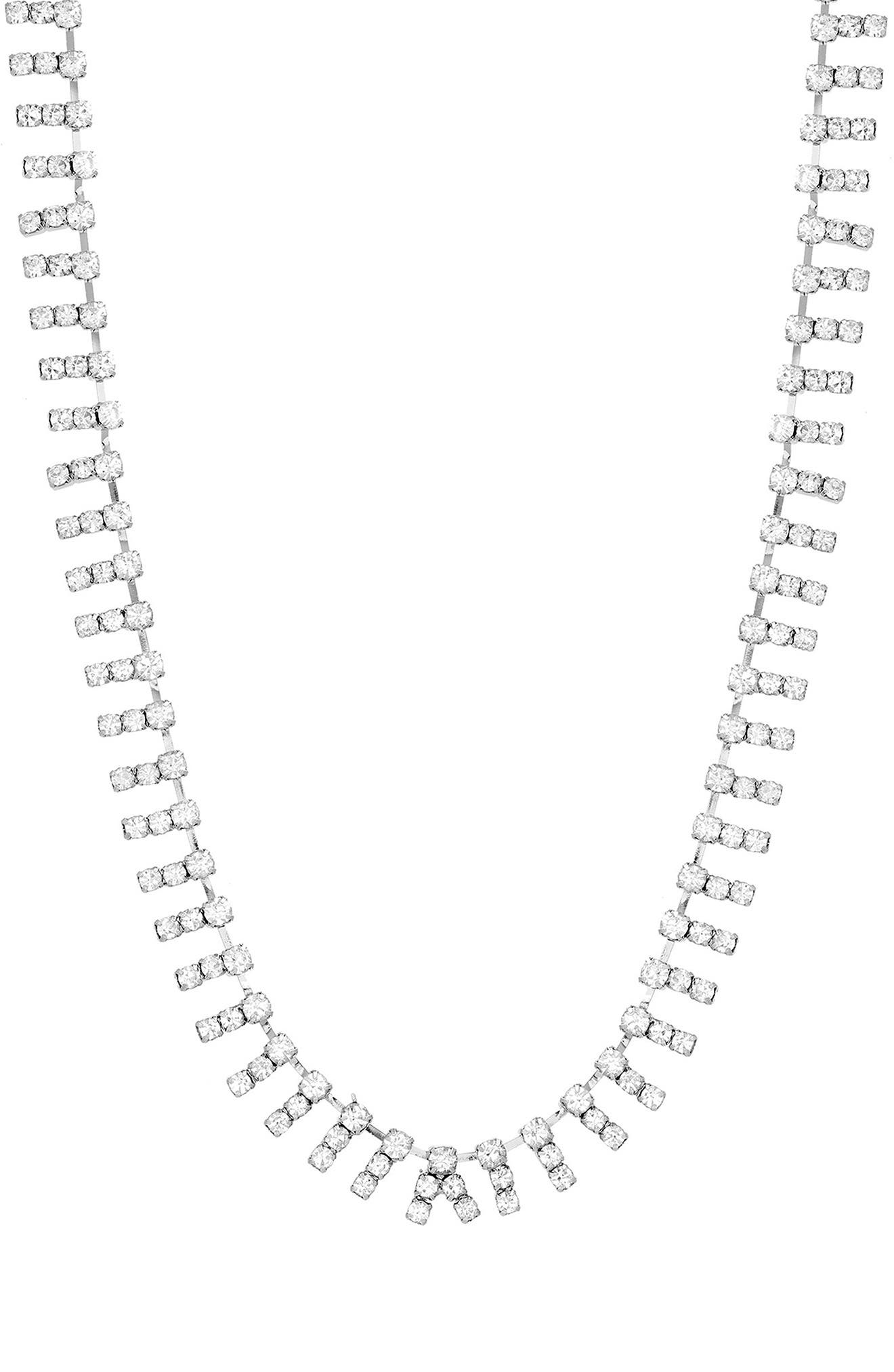 Casted Bar Necklace,                         Main,                         color, Silver