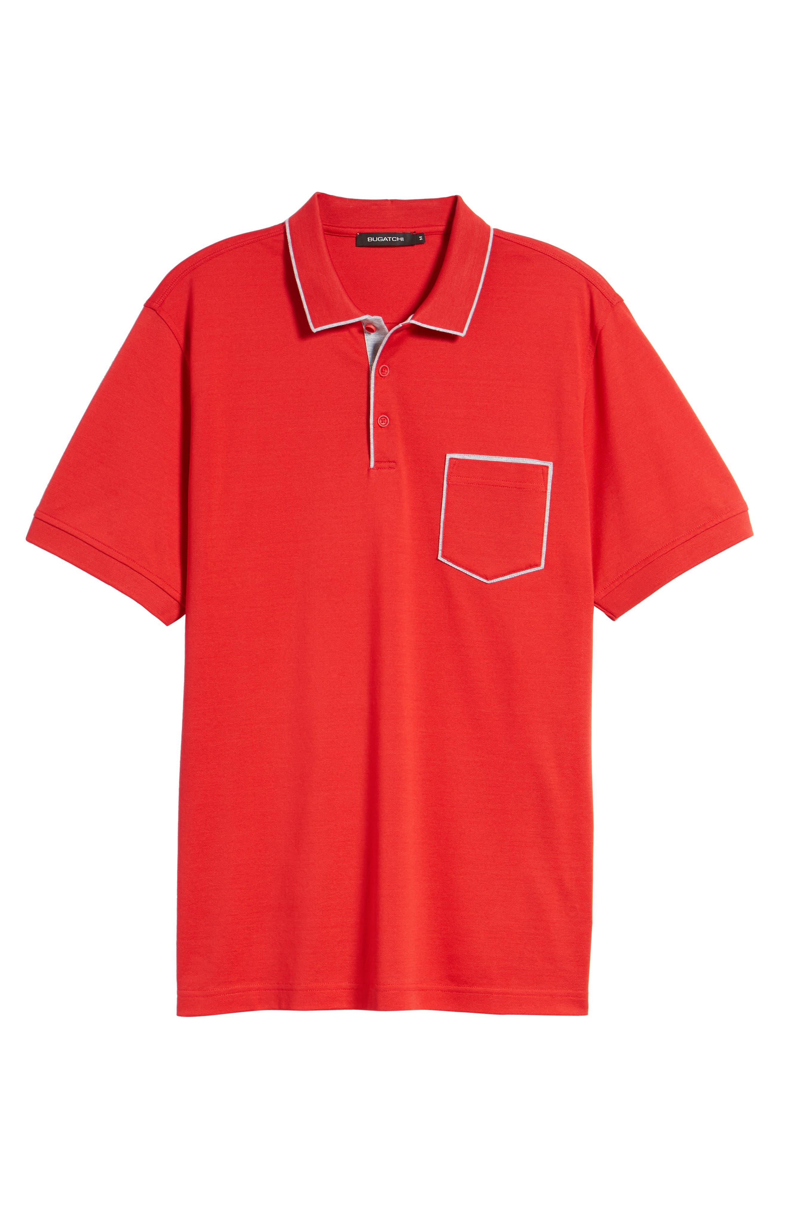 Piqué Knit Polo,                             Alternate thumbnail 6, color,                             Red