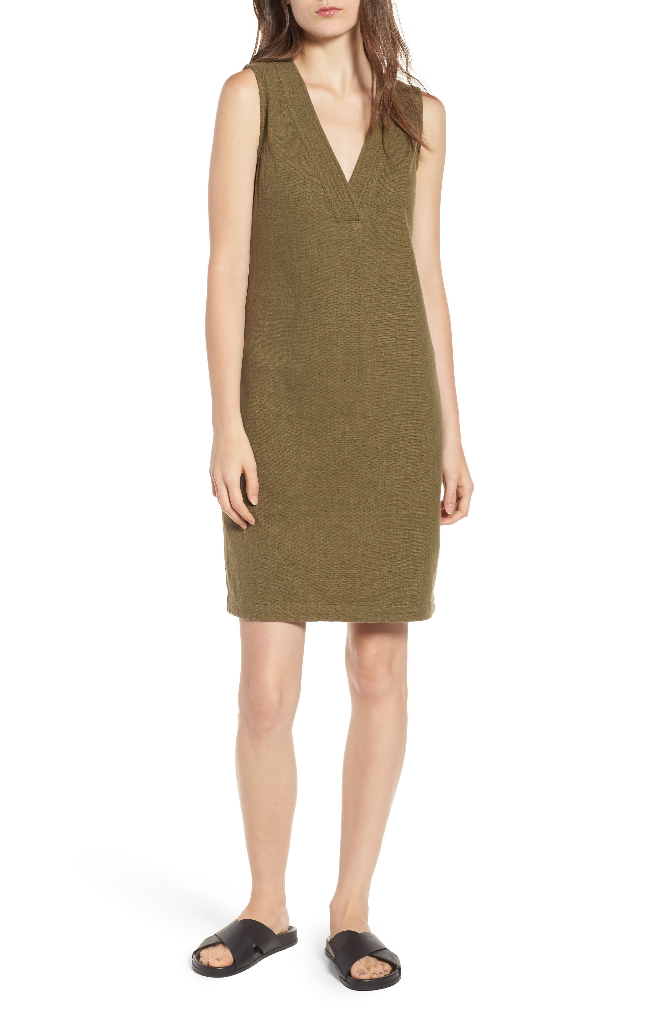 Melissa Dress,                         Main,                         color, Olive Grove