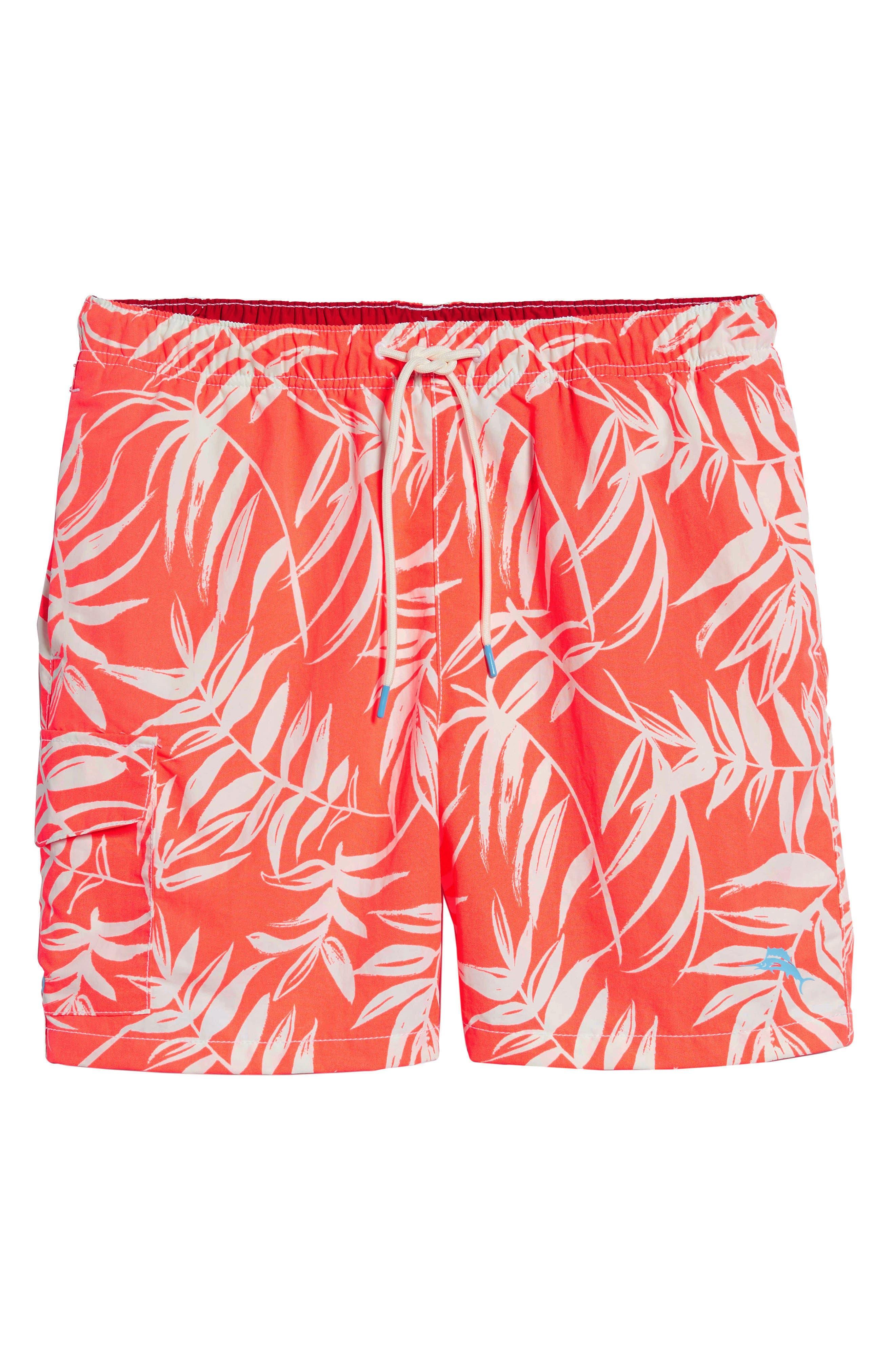 Naples Muy Caliente Swim Trunks,                             Alternate thumbnail 6, color,                             Electric Coral