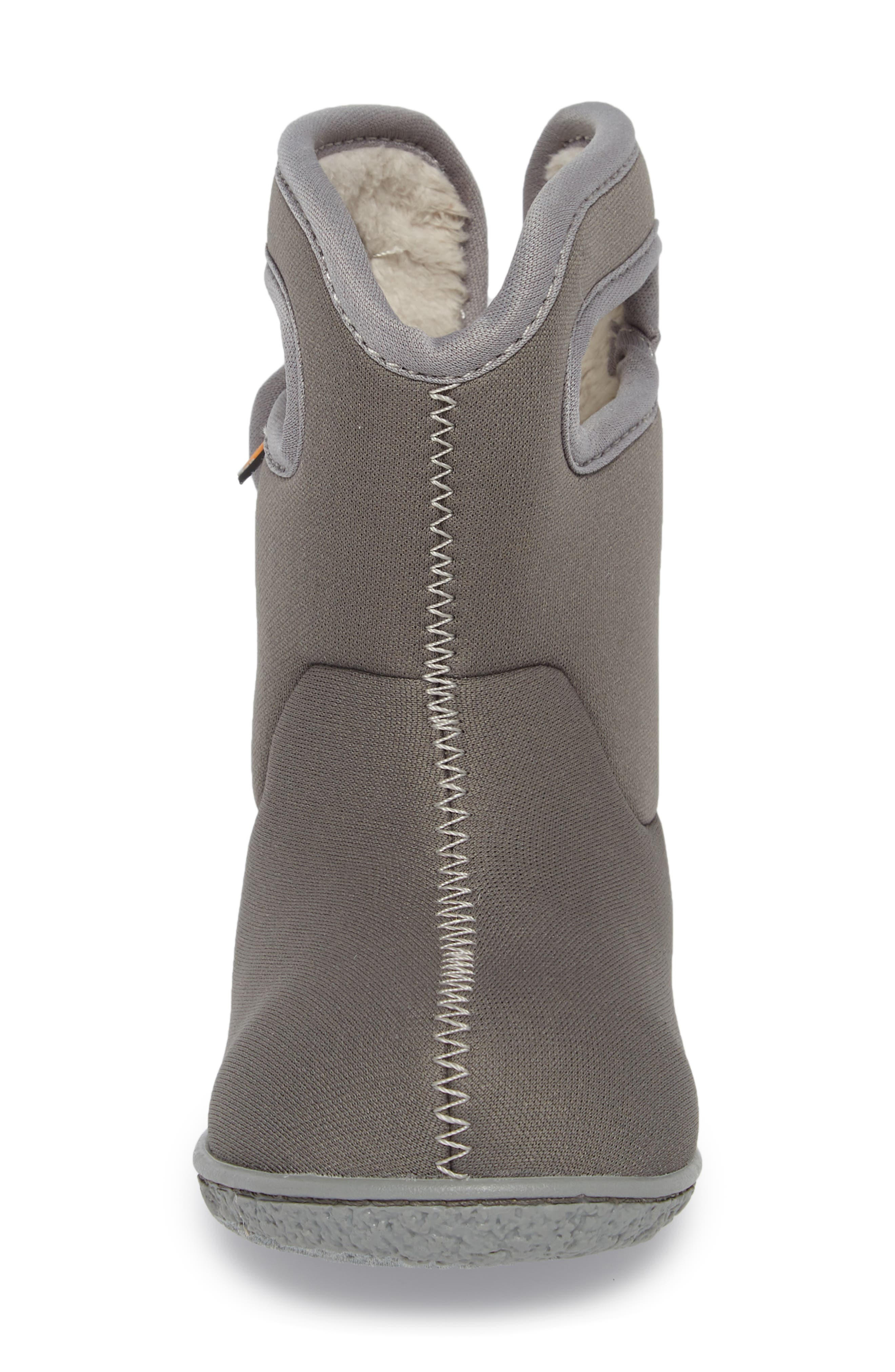 Classic Solid Insulated Waterproof Rain Boot,                             Alternate thumbnail 4, color,                             Light Gray Multi