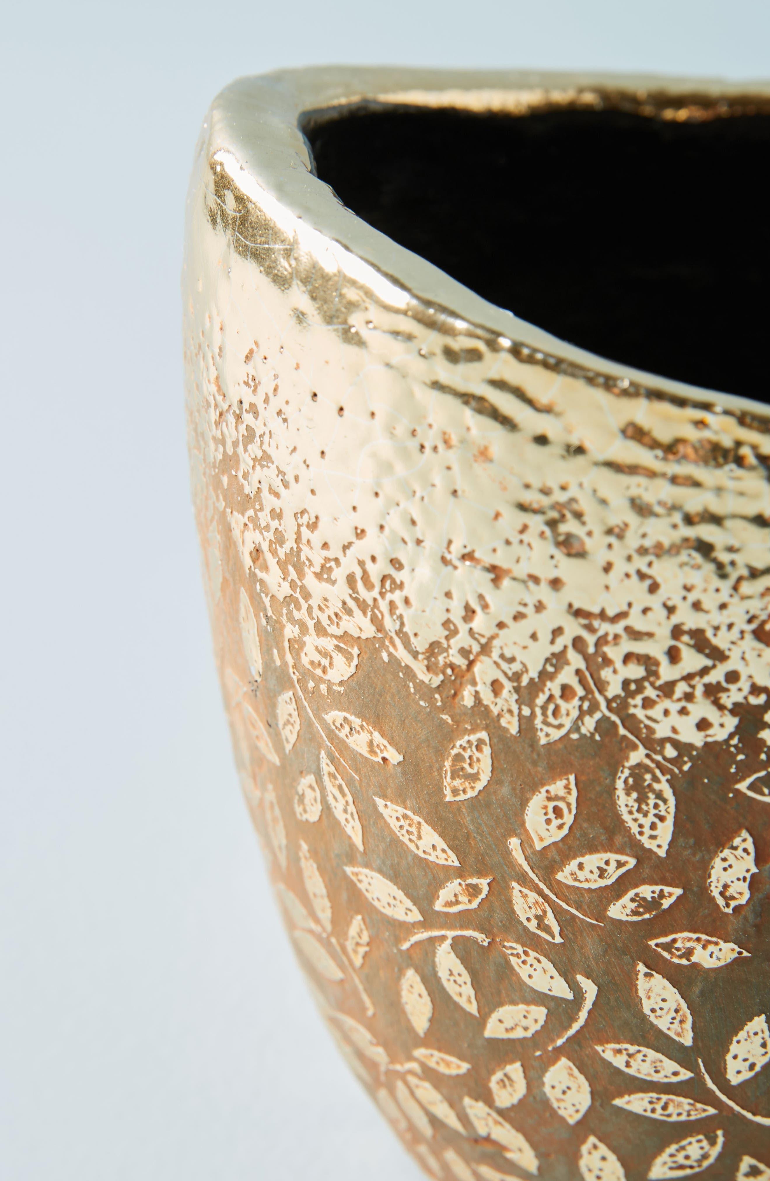 Studio Vine Pot,                             Alternate thumbnail 3, color,                             Gold