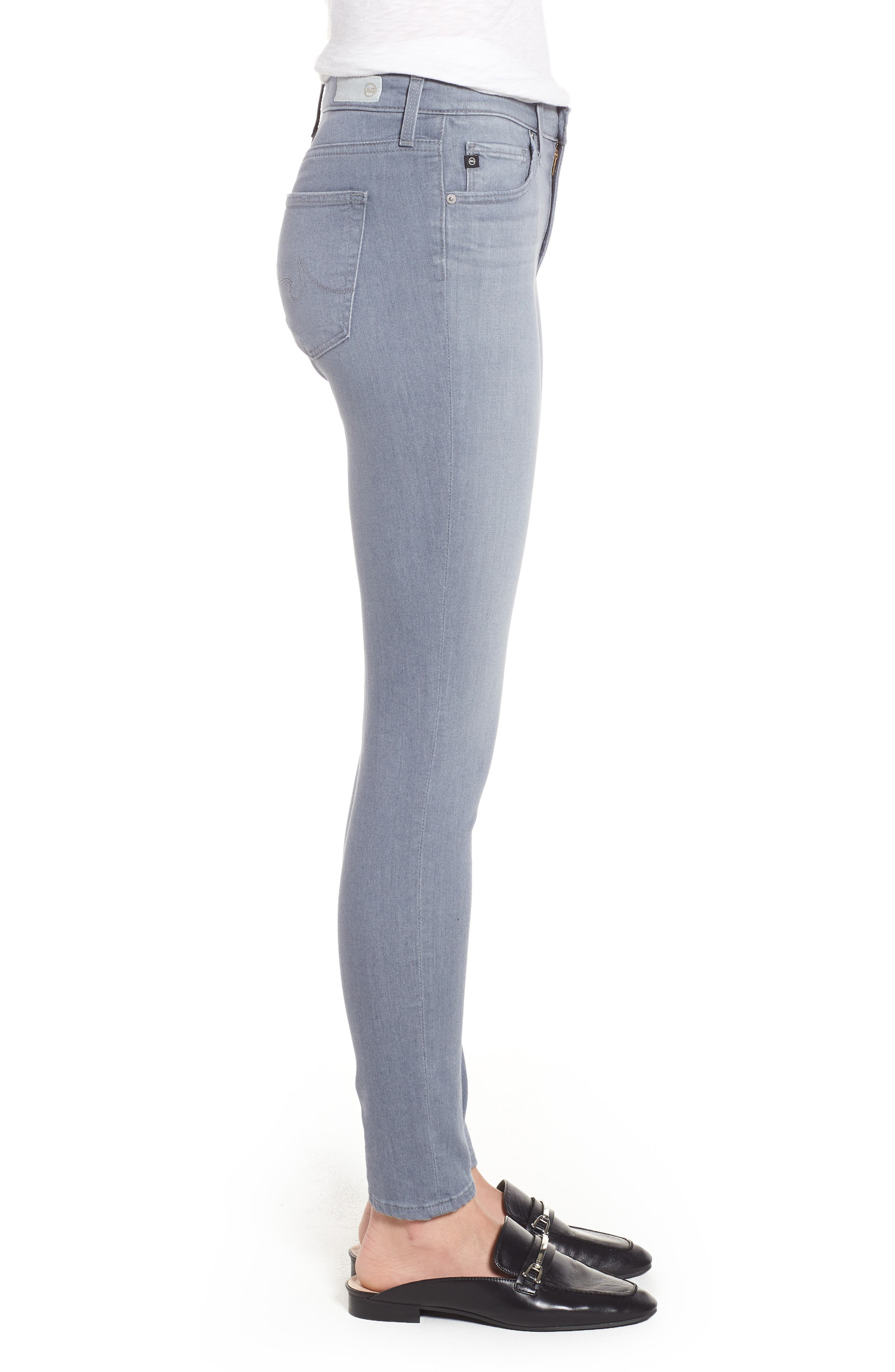 Ankle 'The Legging' Super Skinny Jeans,                             Alternate thumbnail 3, color,                             Valley Smoke