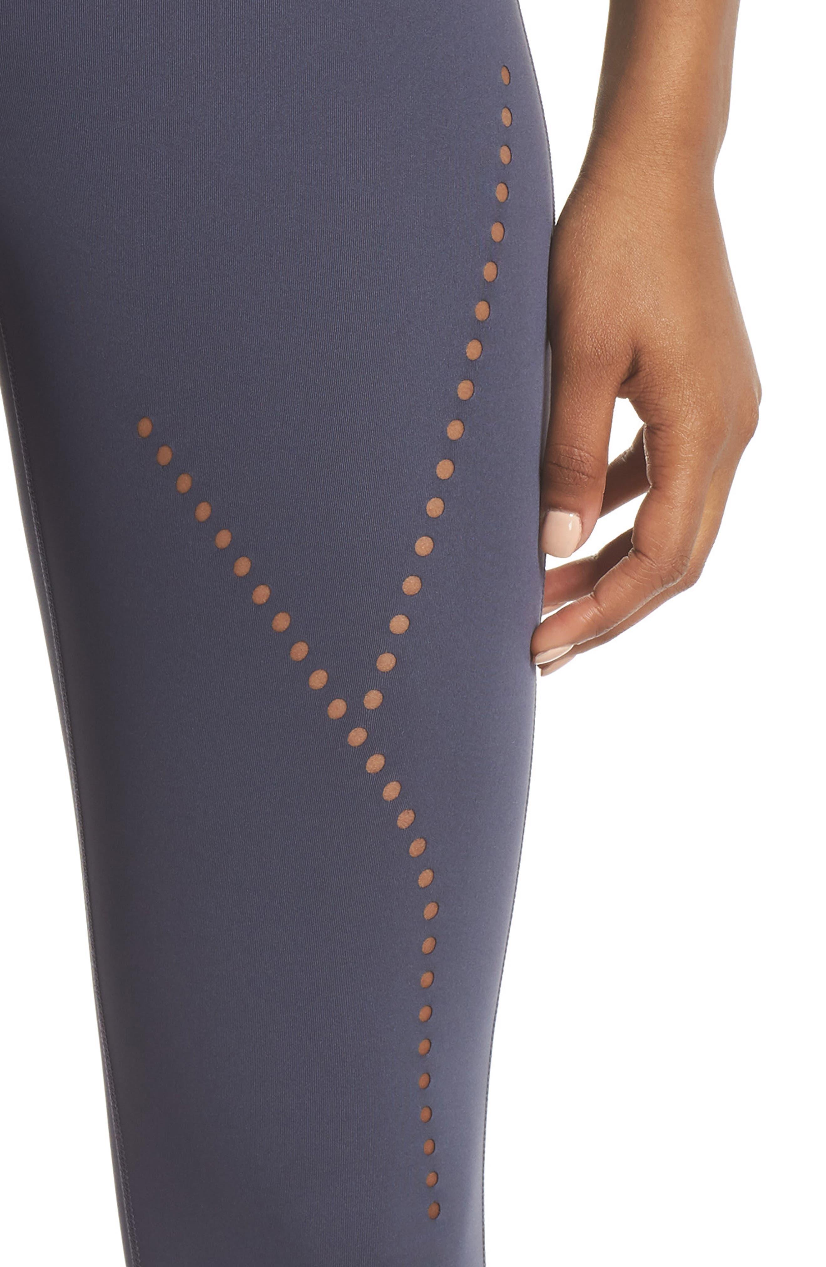 Star Crossed Crop Leggings,                             Alternate thumbnail 4, color,                             Grey Slate
