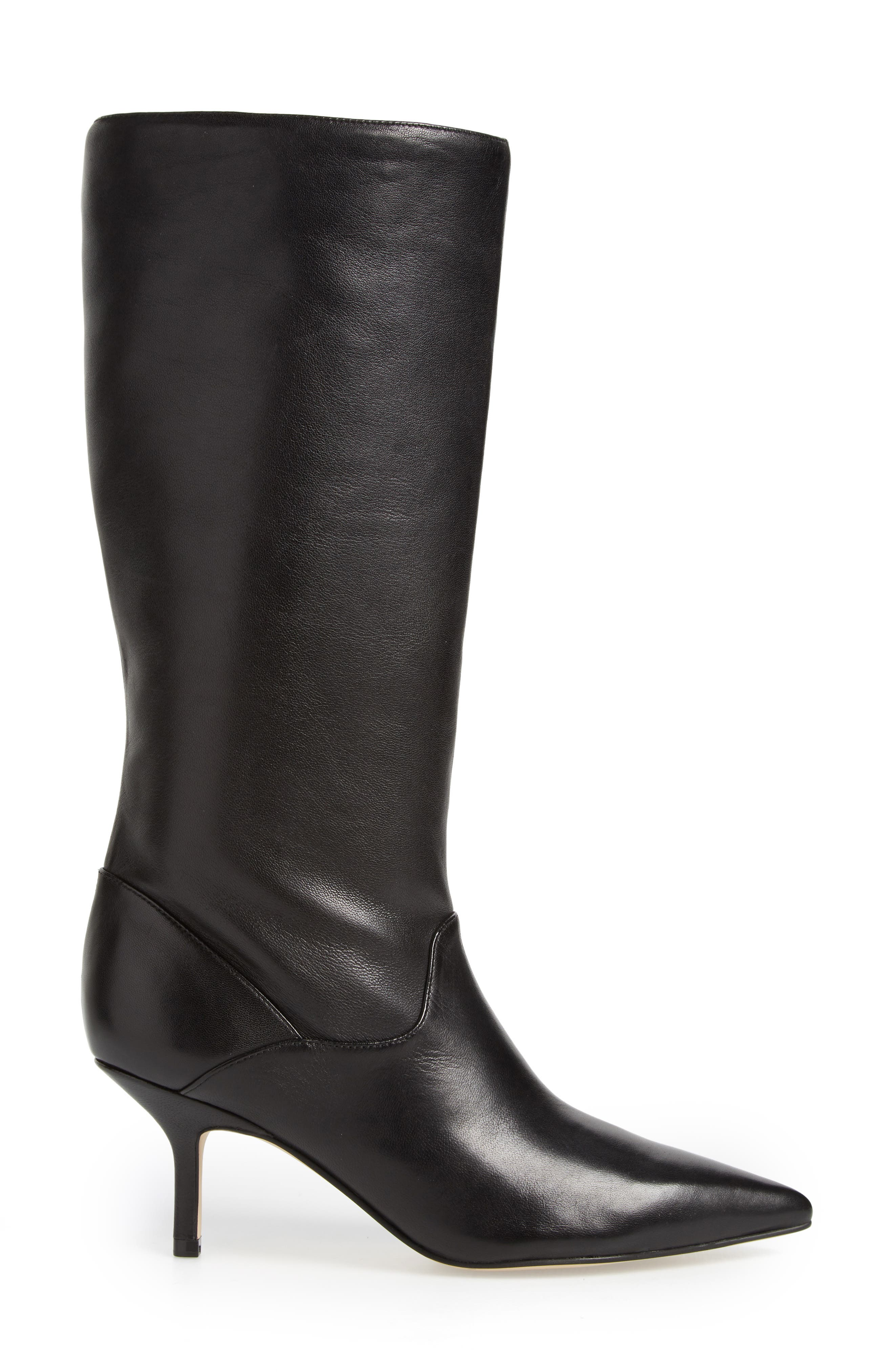 Dacey Boot,                             Alternate thumbnail 3, color,                             Black Leather