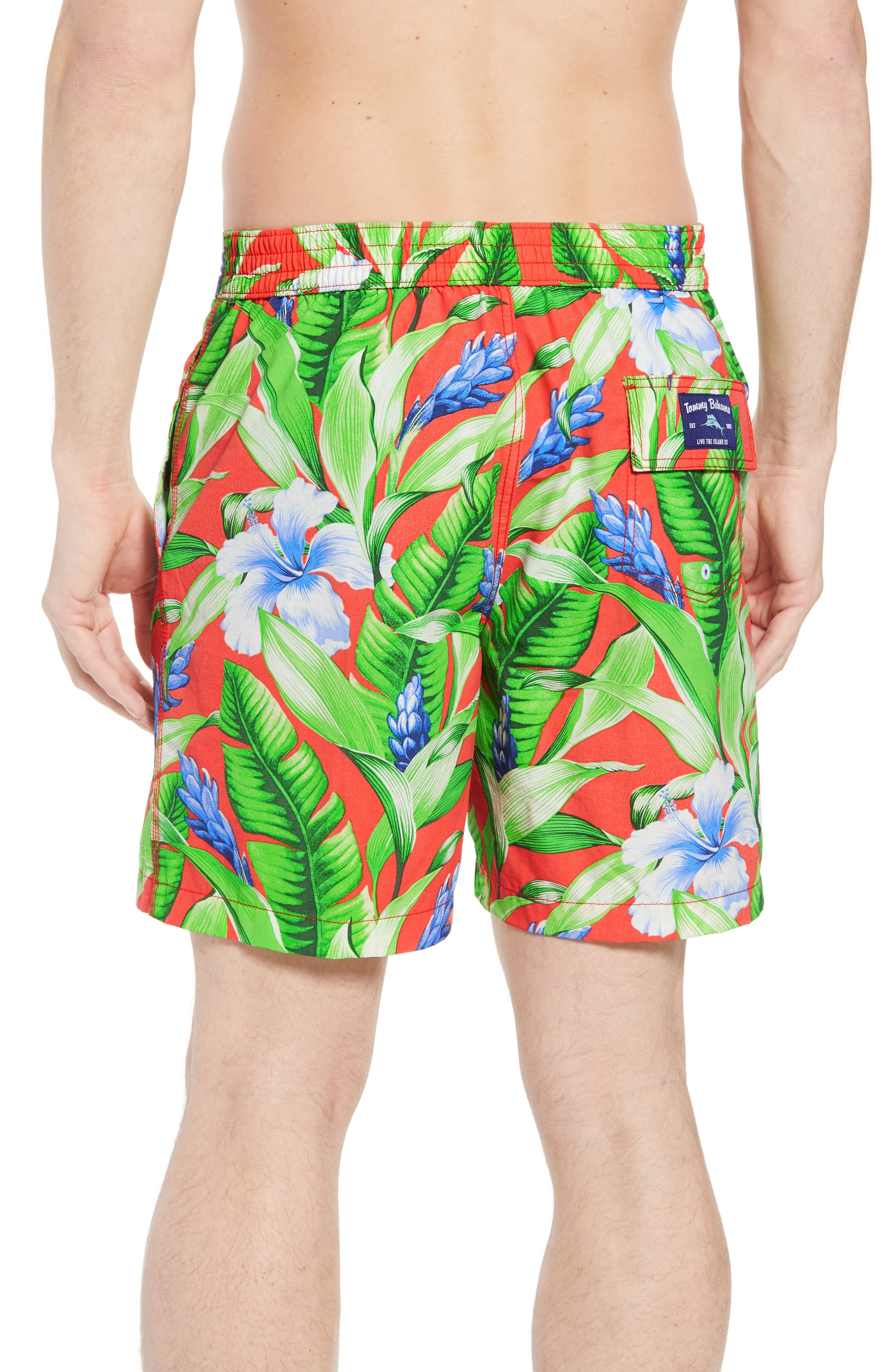 Baja Tulum Bloom Board Shorts,                             Alternate thumbnail 2, color,                             Fire Orange