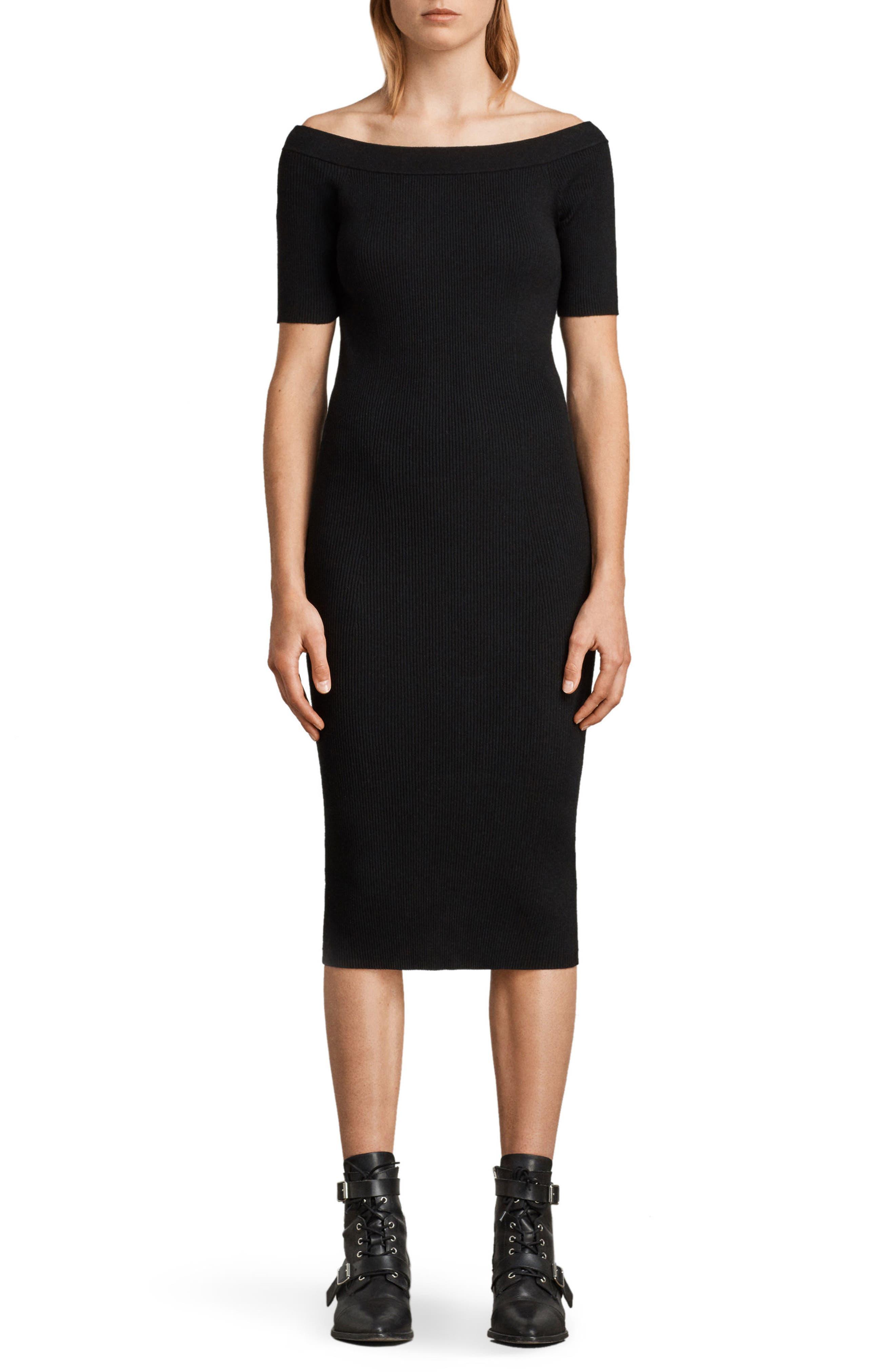 Lavine Bandeau Dress,                             Main thumbnail 1, color,                             Black
