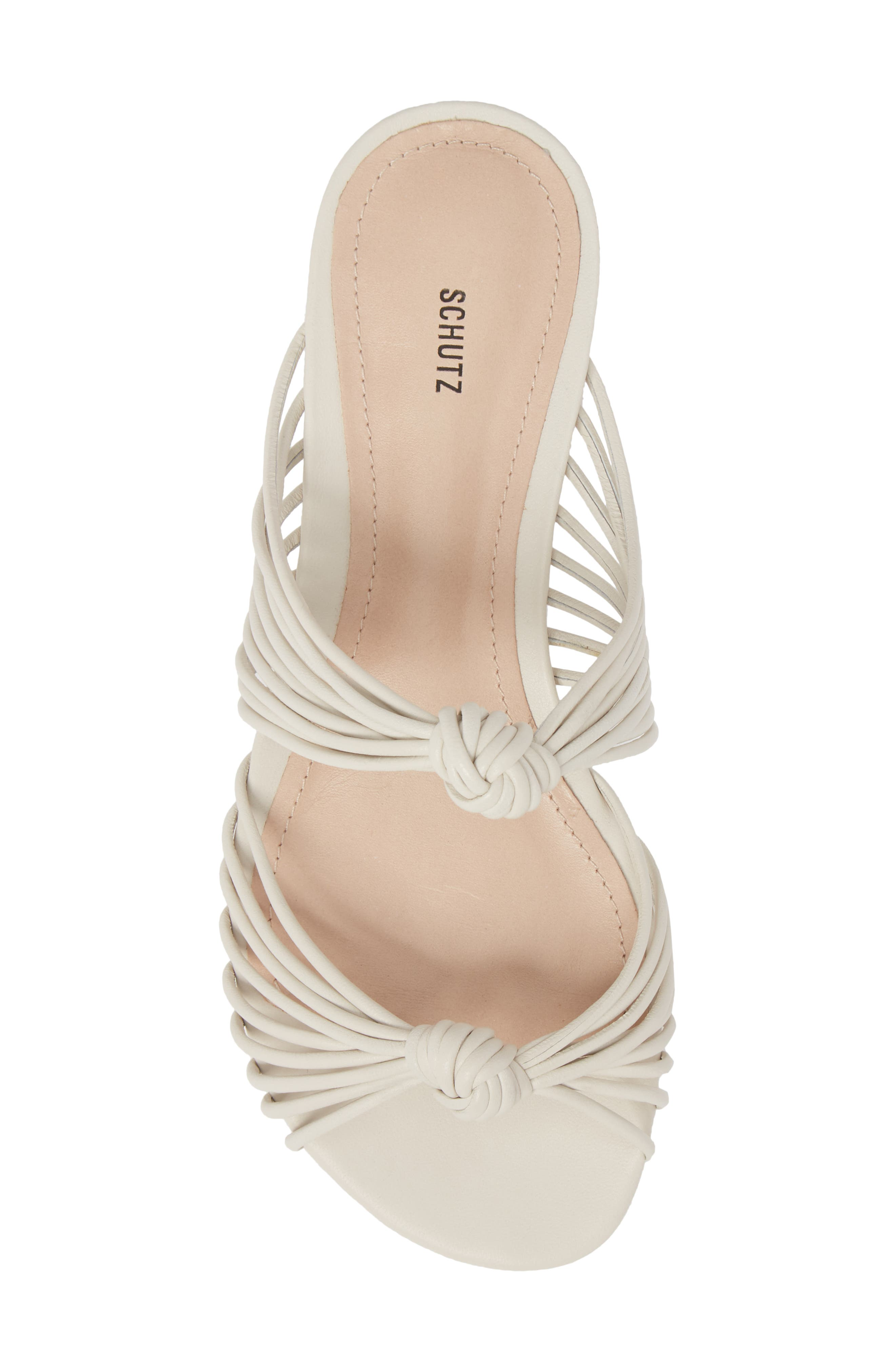 Nitiely Slide Sandal,                             Alternate thumbnail 5, color,                             Pearl Fabric