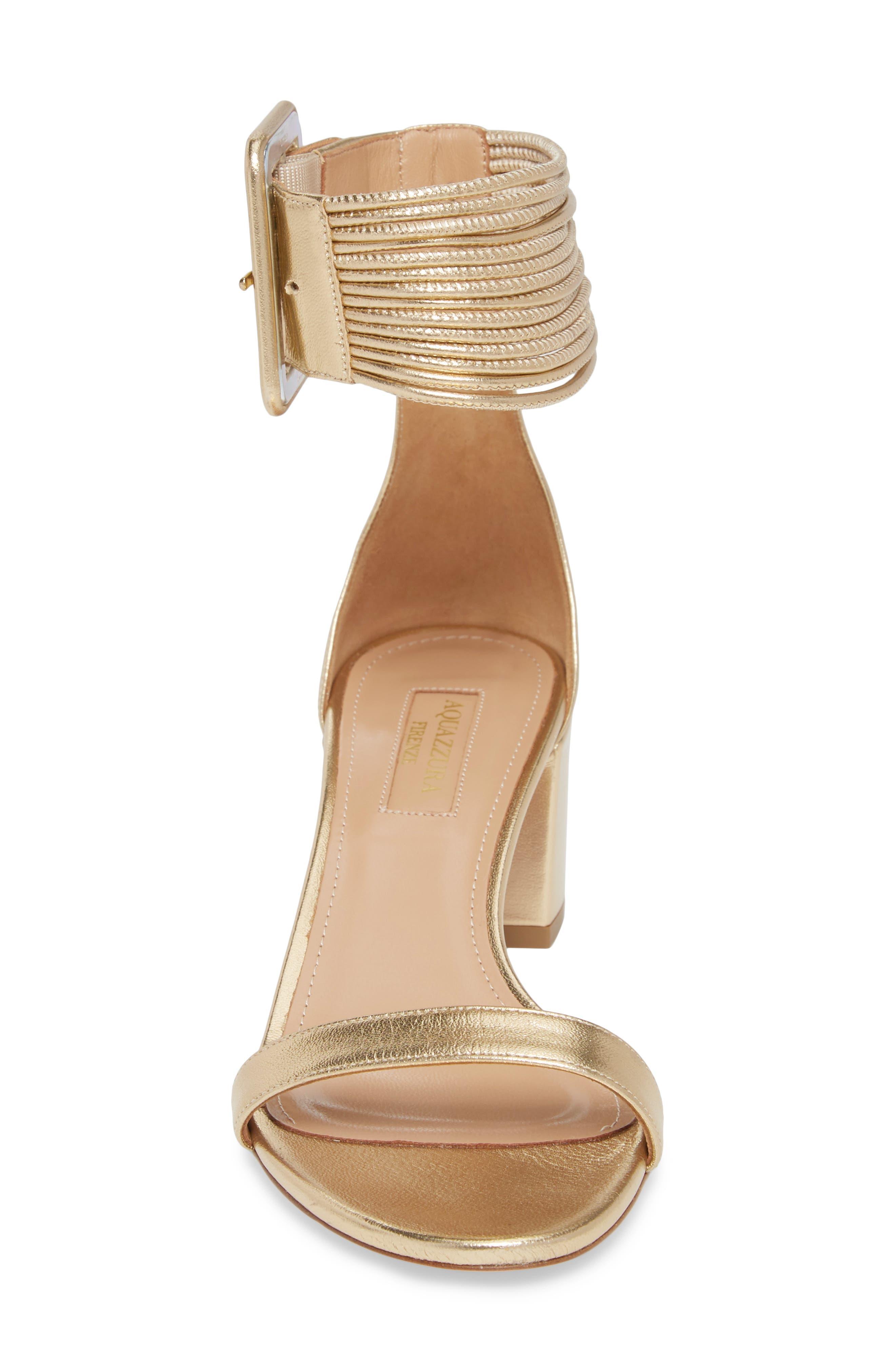 Casablanca Ankle Cuff Sandal,                             Alternate thumbnail 4, color,                             Soft Gold
