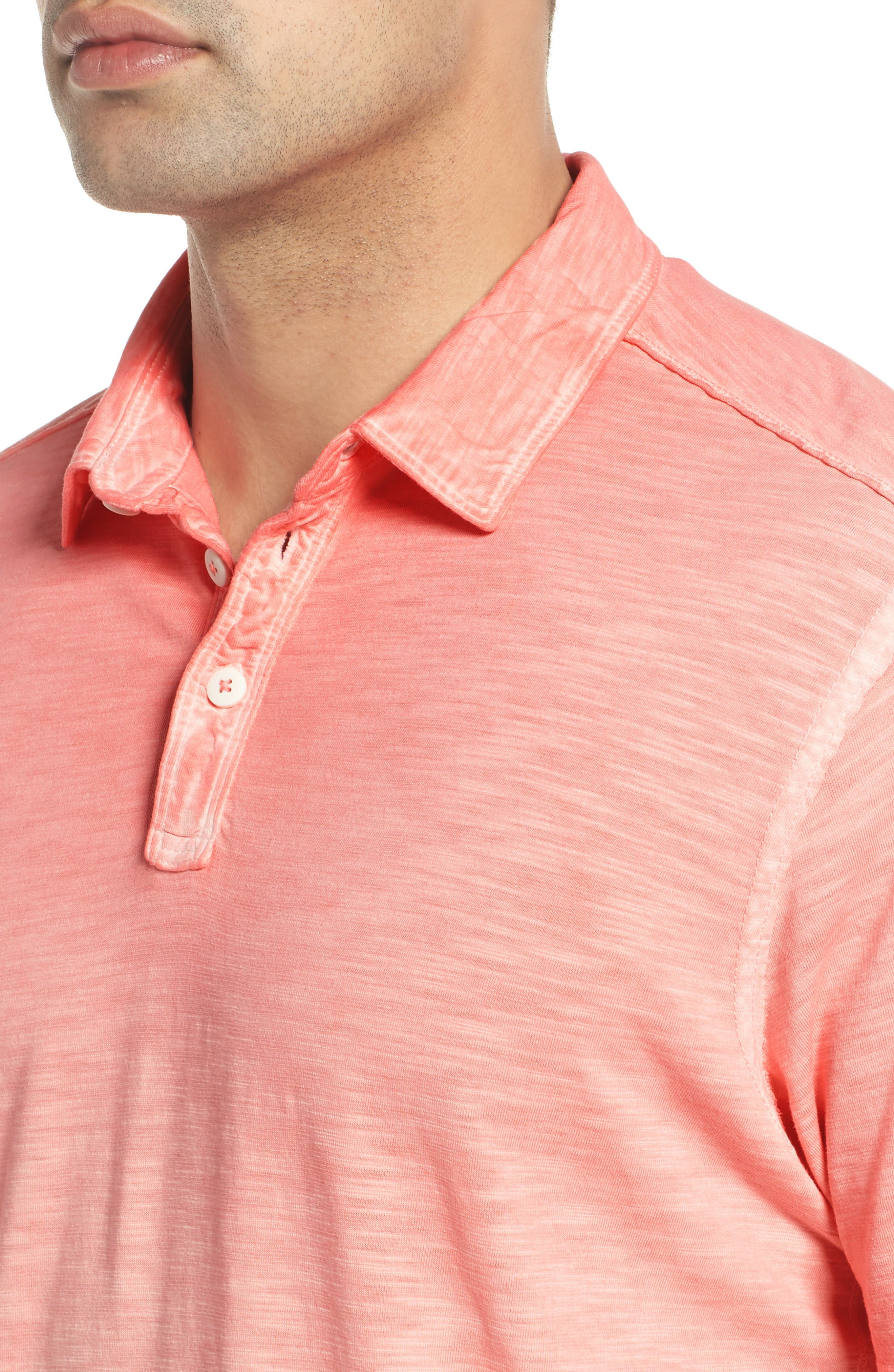 Suncoast Shores Slub Jersey Polo,                             Alternate thumbnail 4, color,                             Electric Coral