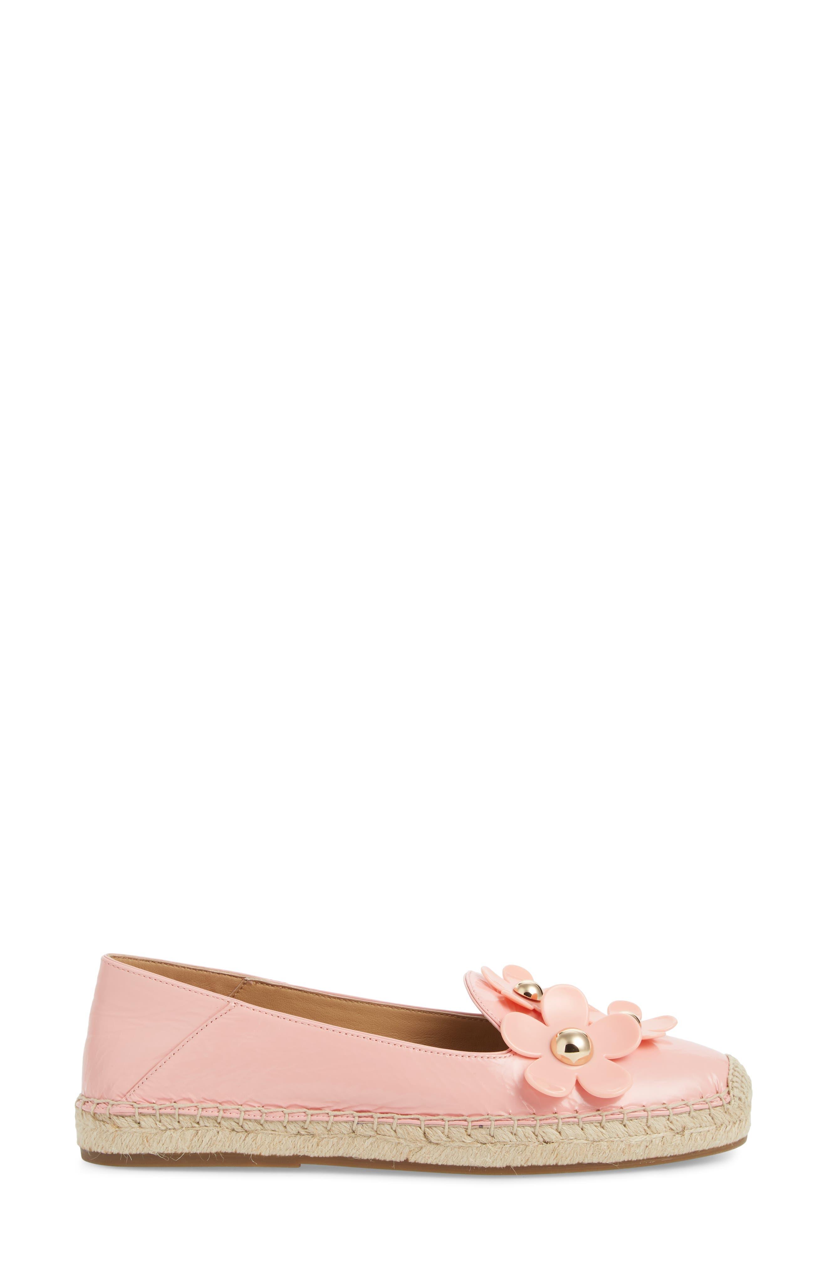 Daisy Studded Espadrille,                             Alternate thumbnail 3, color,                             Light Pink