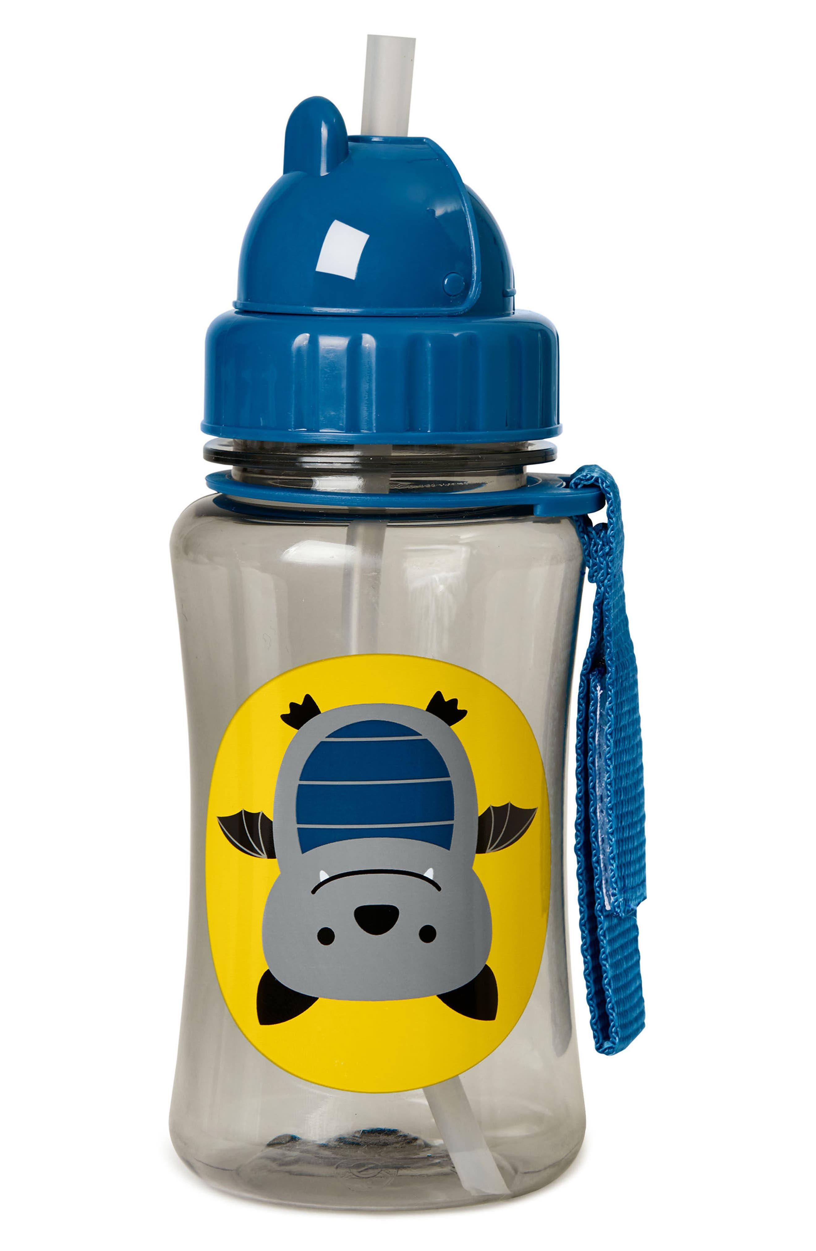 Zoo Bat Straw Bottle,                             Alternate thumbnail 2, color,                             Navy Blue