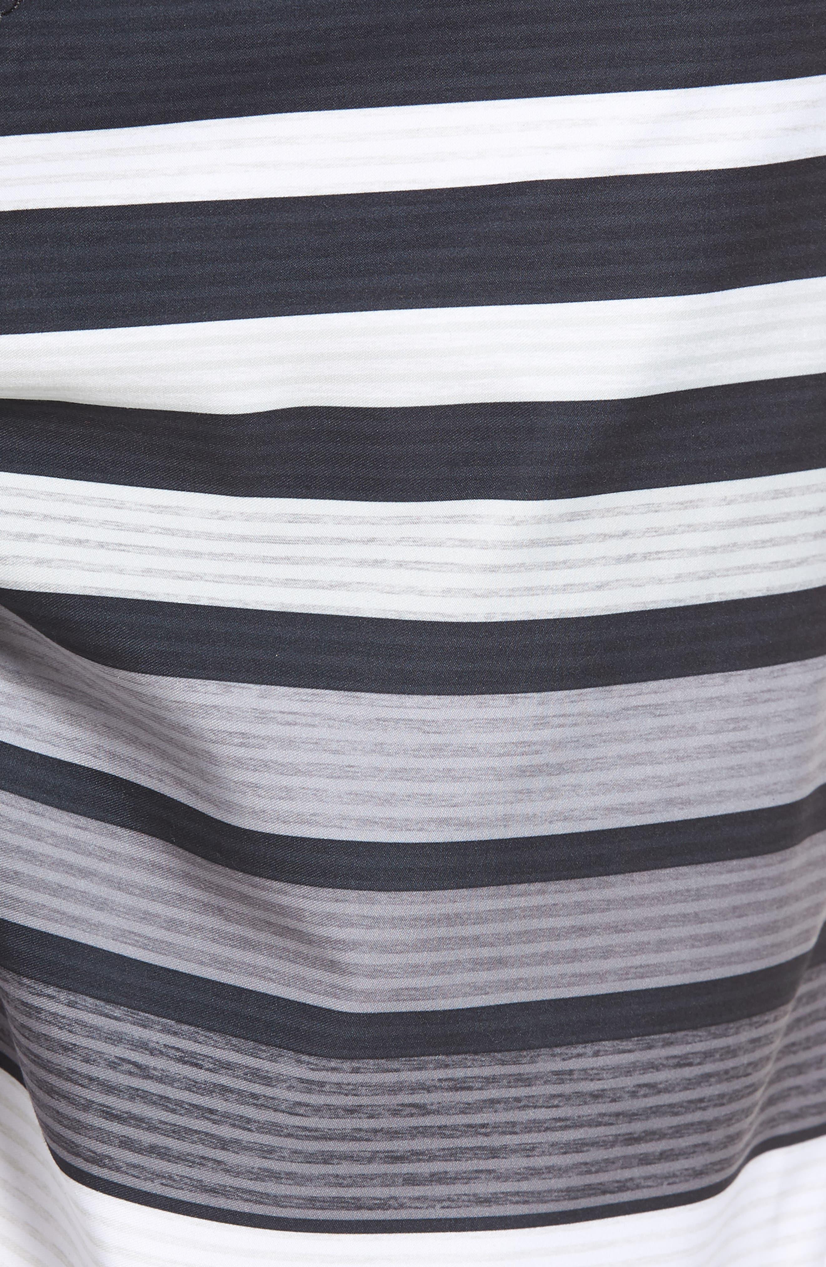 All Day OG Stripe Board Shorts,                             Alternate thumbnail 5, color,                             Black
