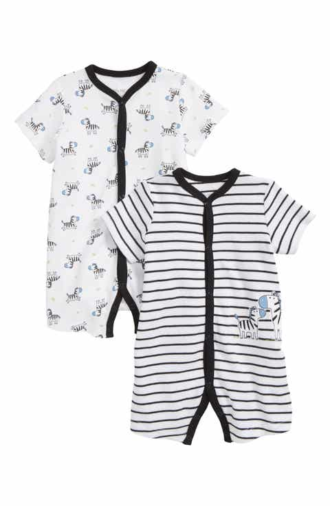 Baby boy gifts nordstrom little me zebra 2 pack rompers baby boys negle Gallery