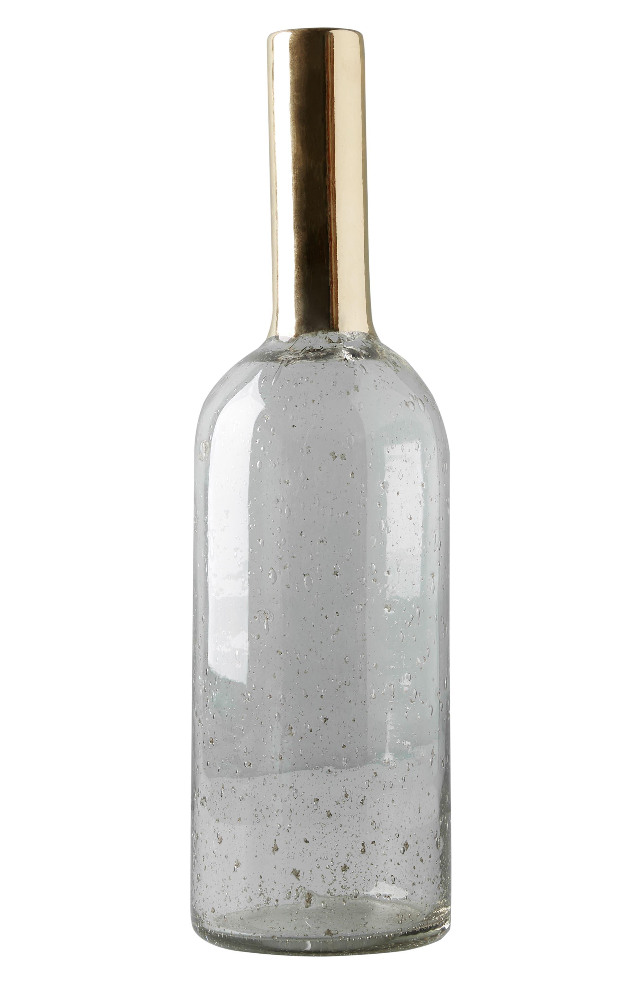 Gilded Bottleneck Vase,                             Alternate thumbnail 5, color,                             Gold
