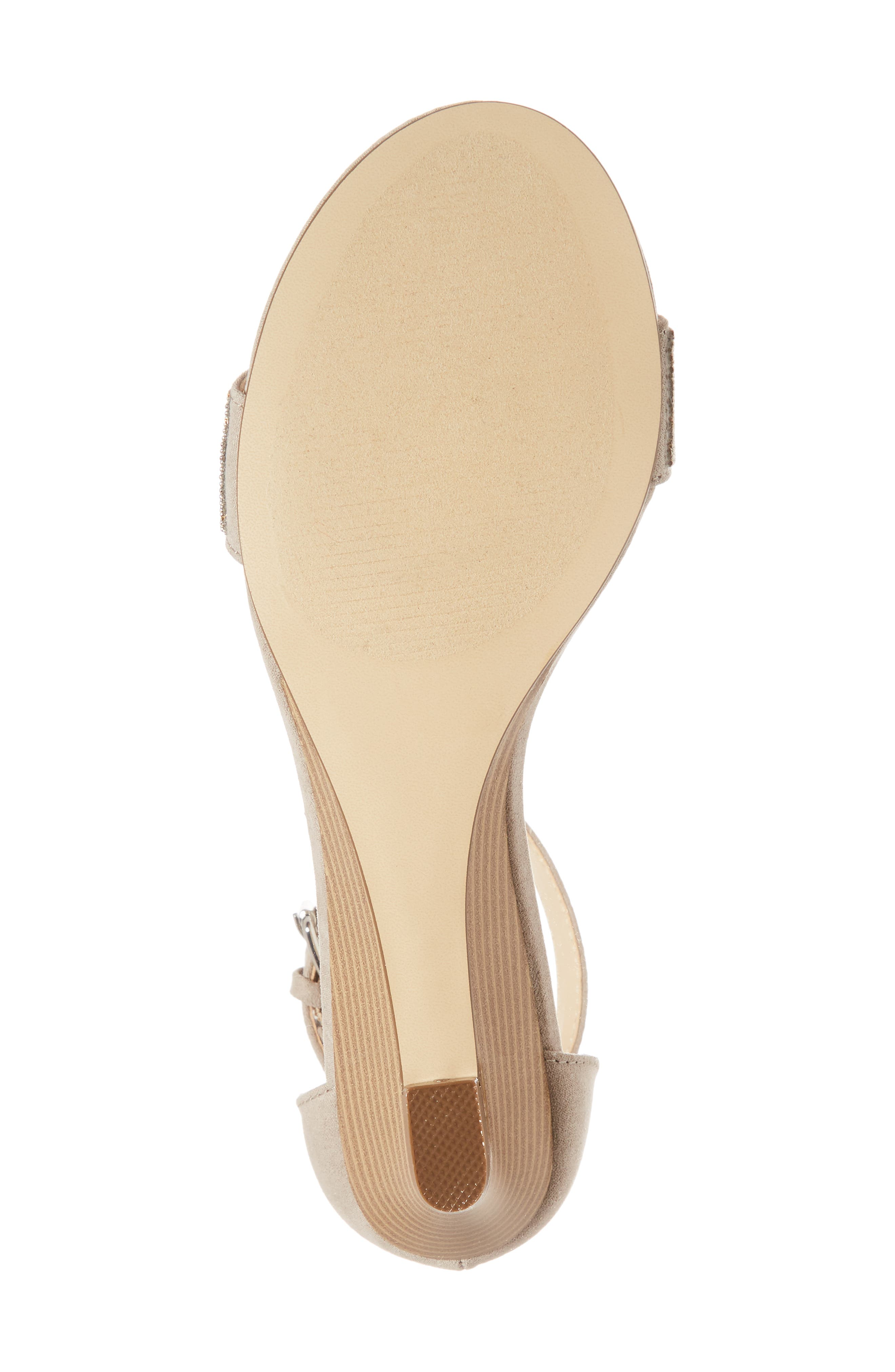 Enfield Ankle Strap Wedge Sandal,                             Alternate thumbnail 6, color,                             Taupe Suede