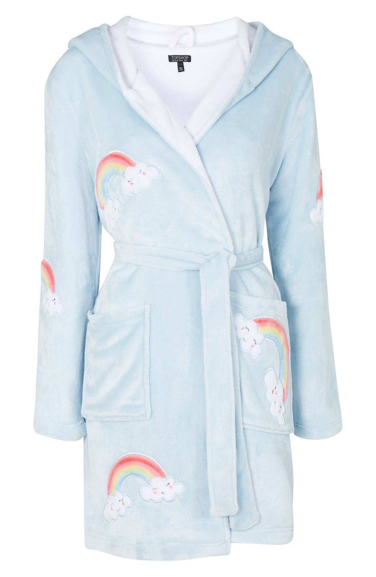 Alternate Image 3  - Topshop Rainbow Dressing Robe