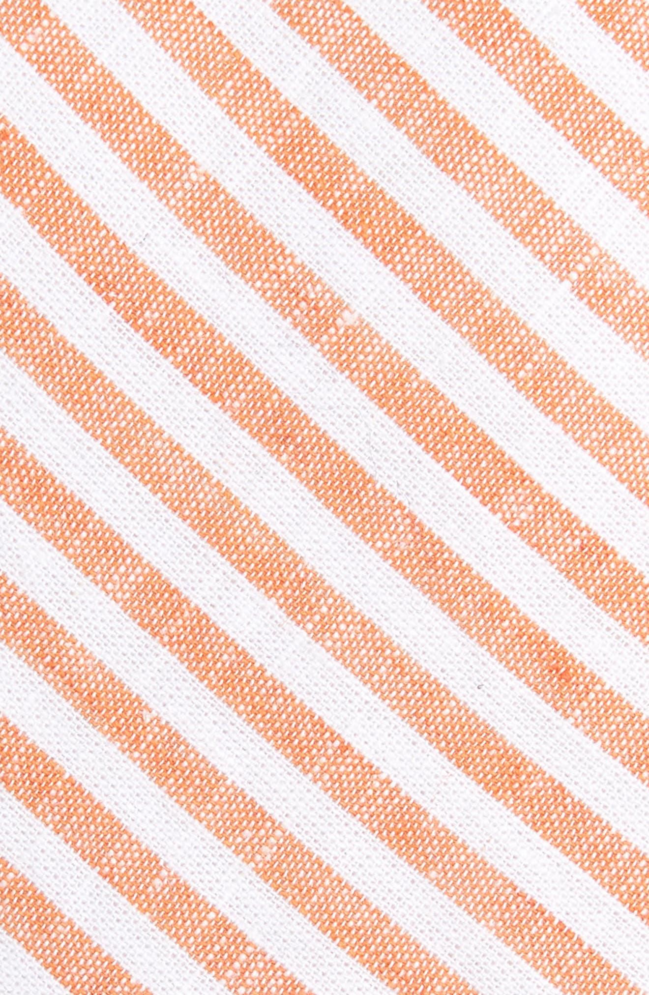 Telary Stripe Cotton Skinny Tie,                             Alternate thumbnail 2, color,                             Orange