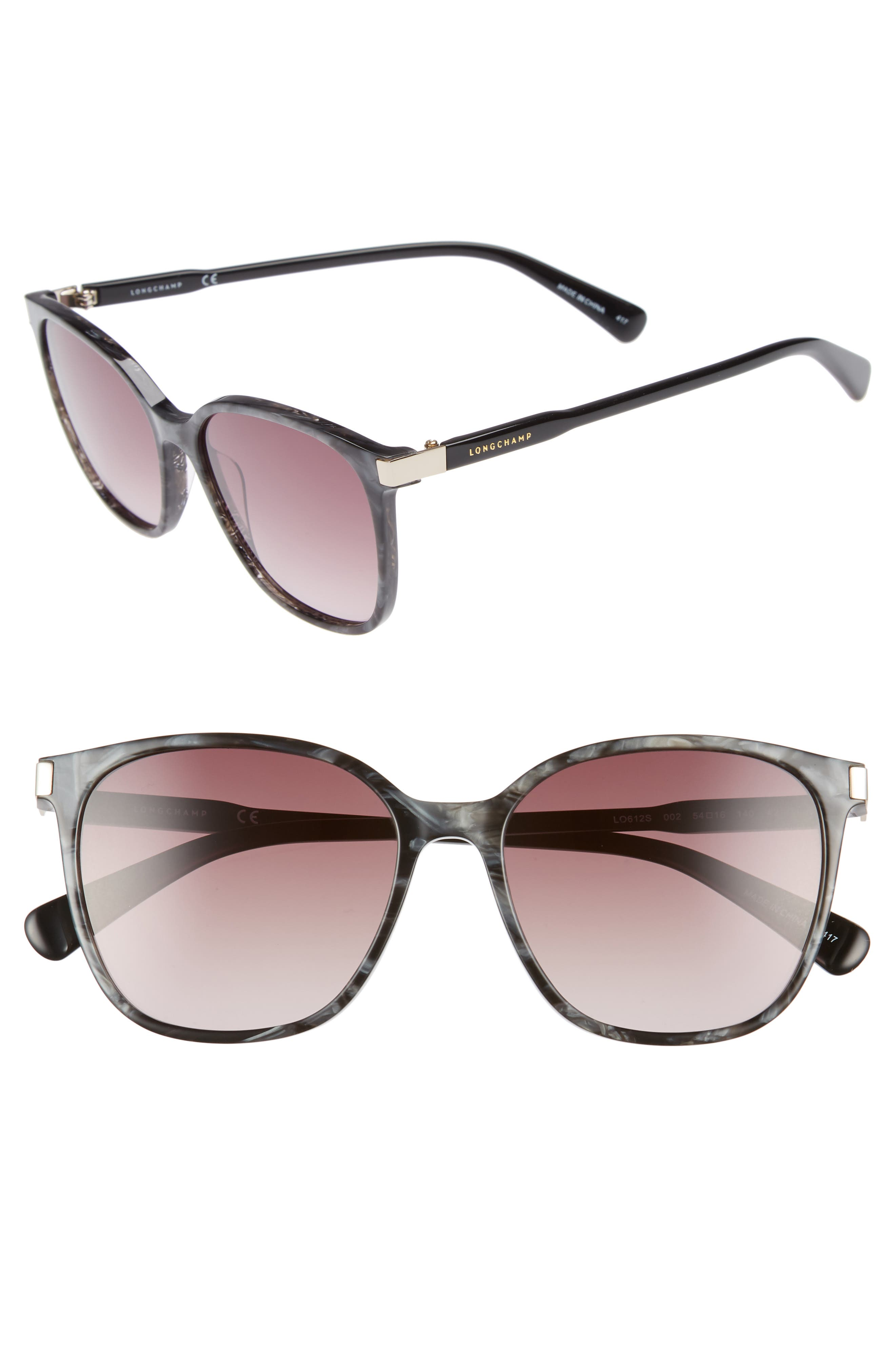 Longchamp 54mm Square Sunglasses