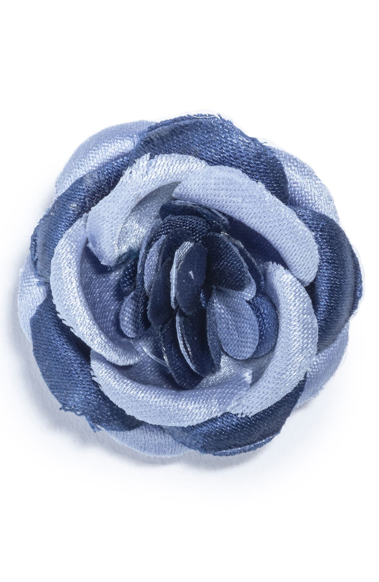 Flower Lapel Pin,                             Main thumbnail 1, color,                             Blue