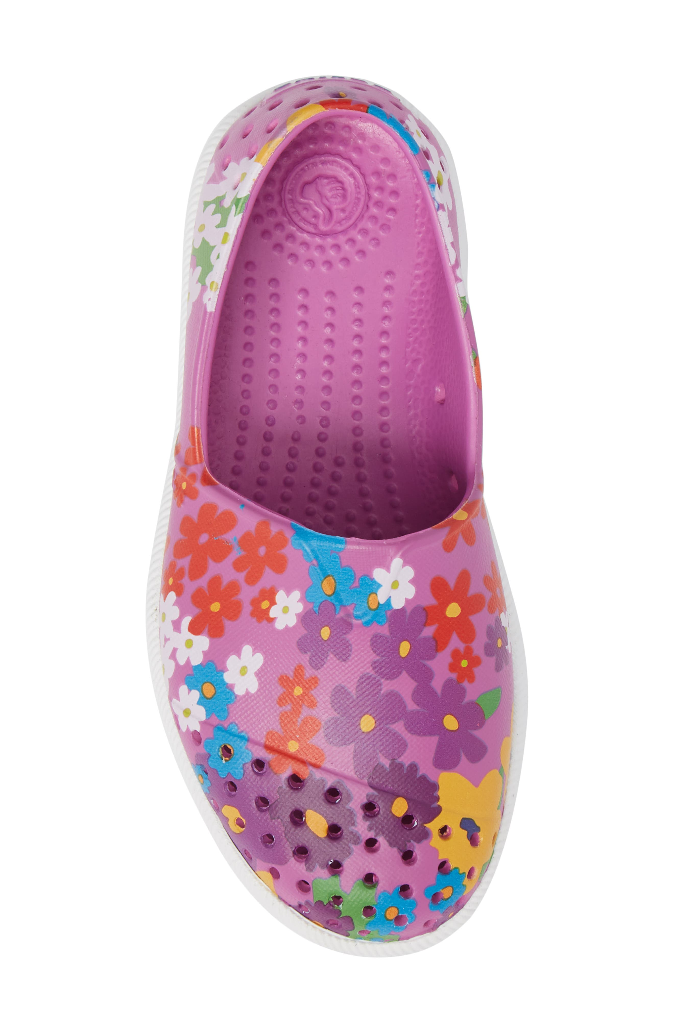 Verona Perforated Slip-On,                             Alternate thumbnail 5, color,                             Peace Purple/ White/ Daisy