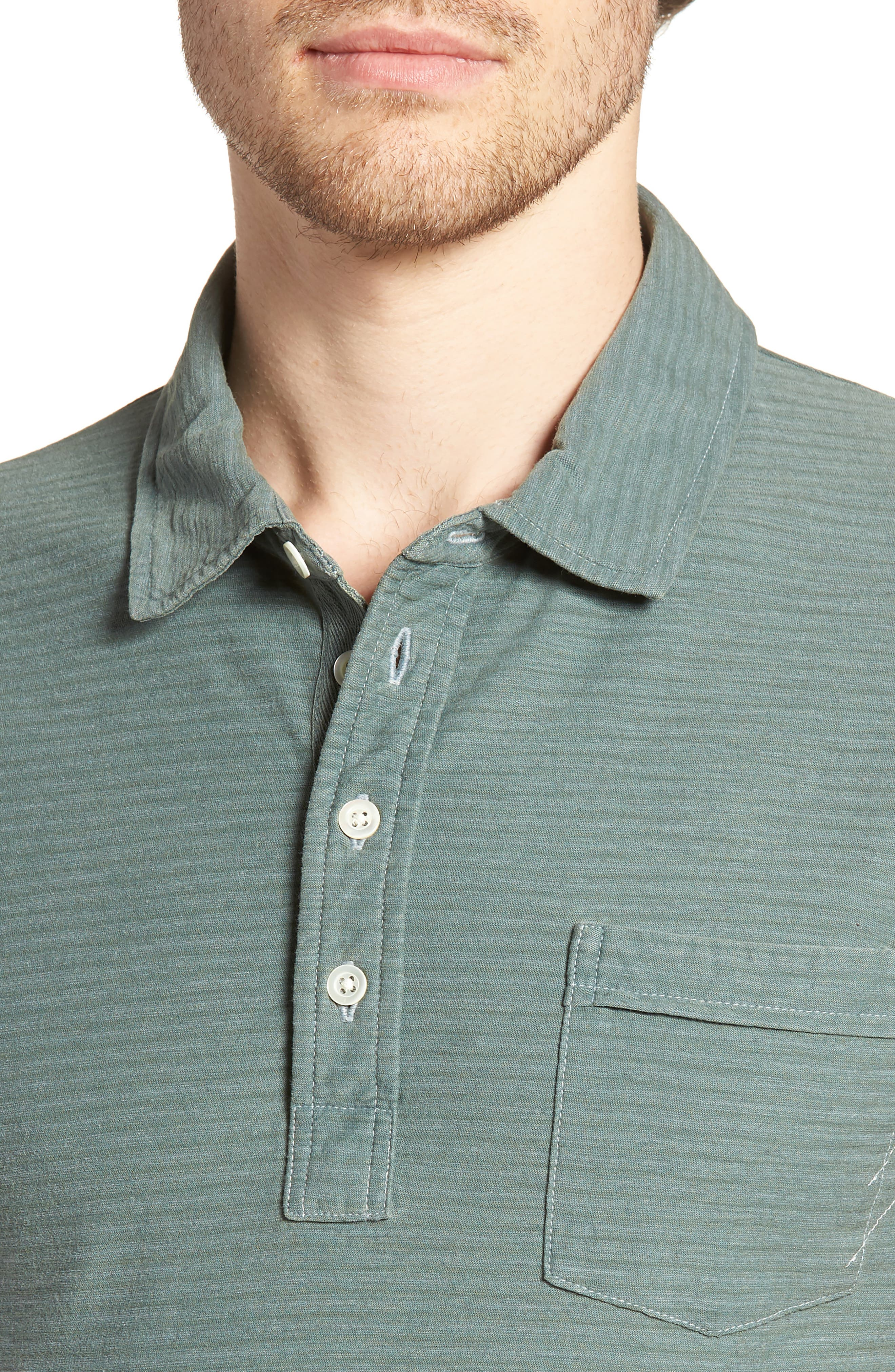 Pensacola Cotton Blend Polo Shirt,                             Alternate thumbnail 4, color,                             Sage