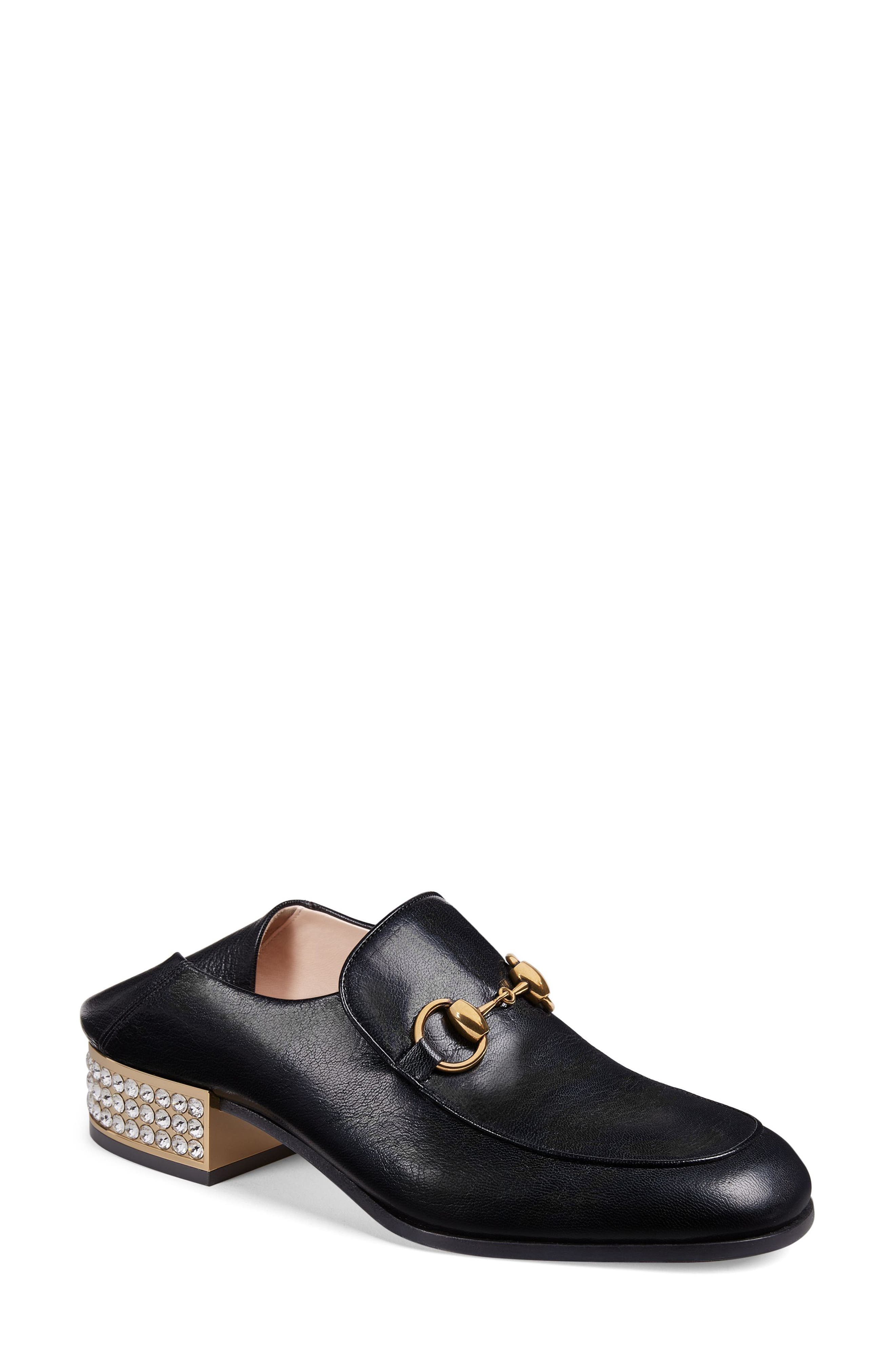 Mister Crystal Convertible Loafer,                             Main thumbnail 1, color,                             Black