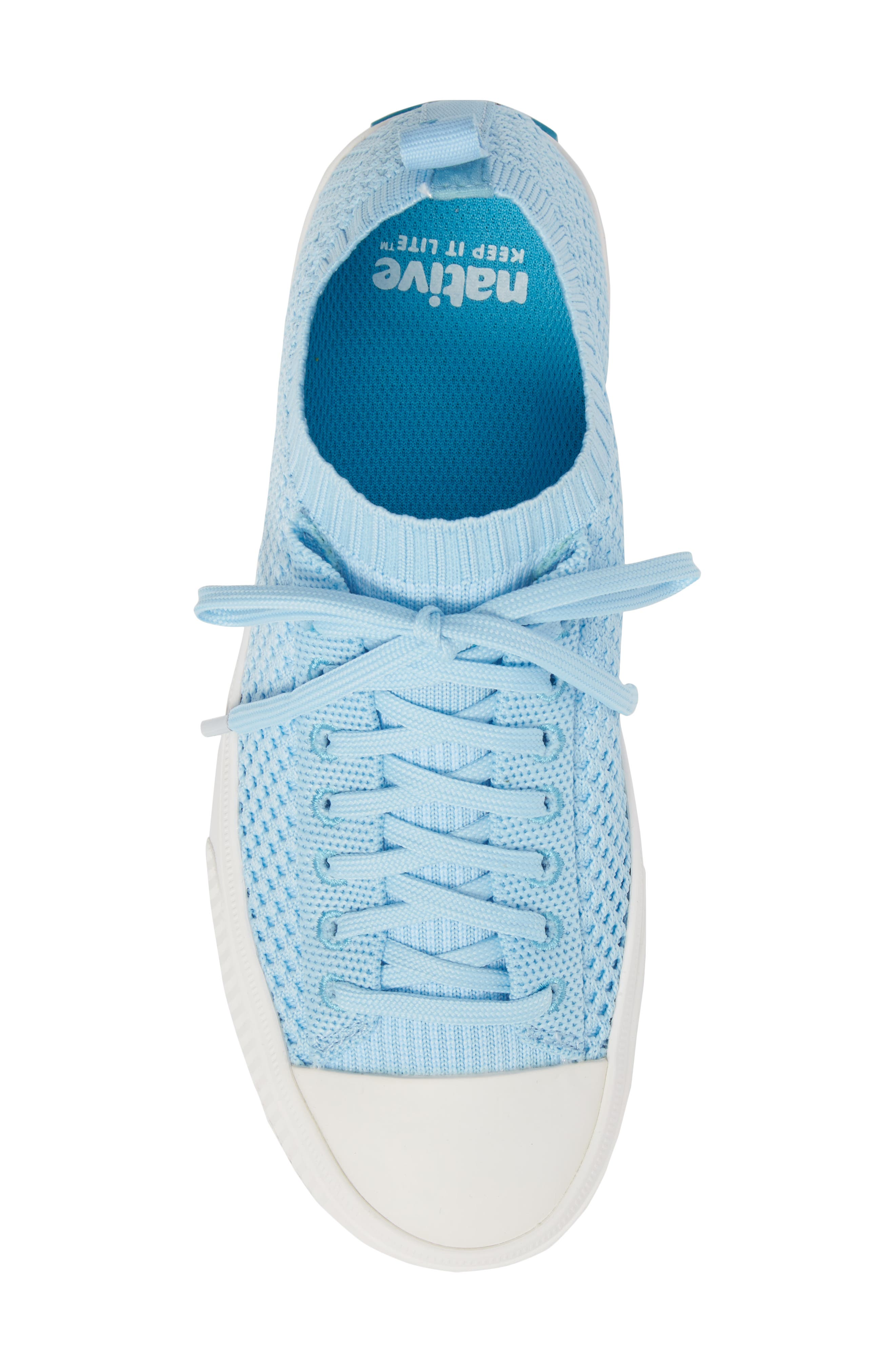 Jefferson 2.0 Liteknit Sneaker,                             Alternate thumbnail 5, color,                             Sky Blue/ Shell White