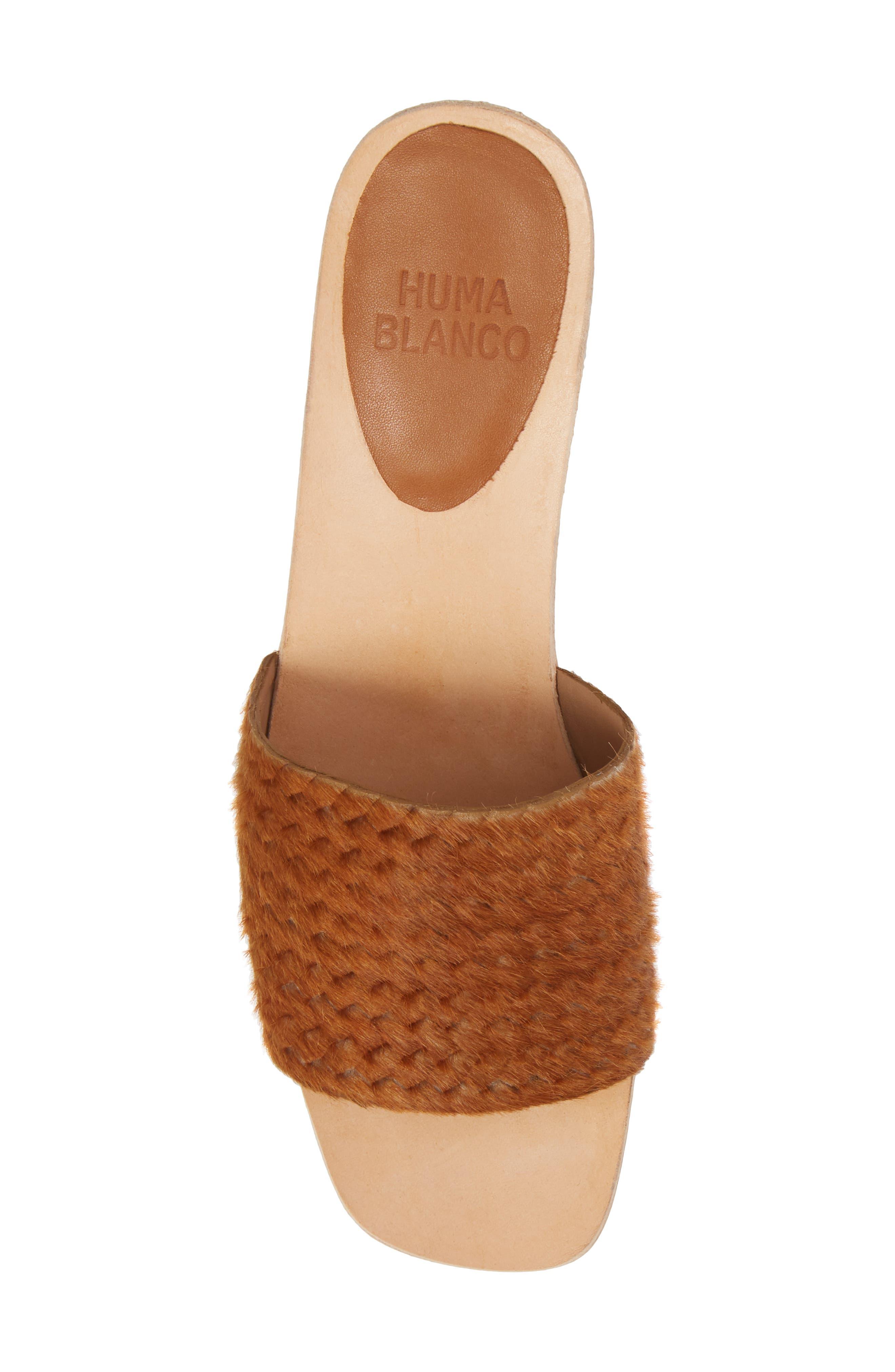 Genuine Calf Hair Sandal,                             Alternate thumbnail 5, color,                             Caramel Braided Calf Hair