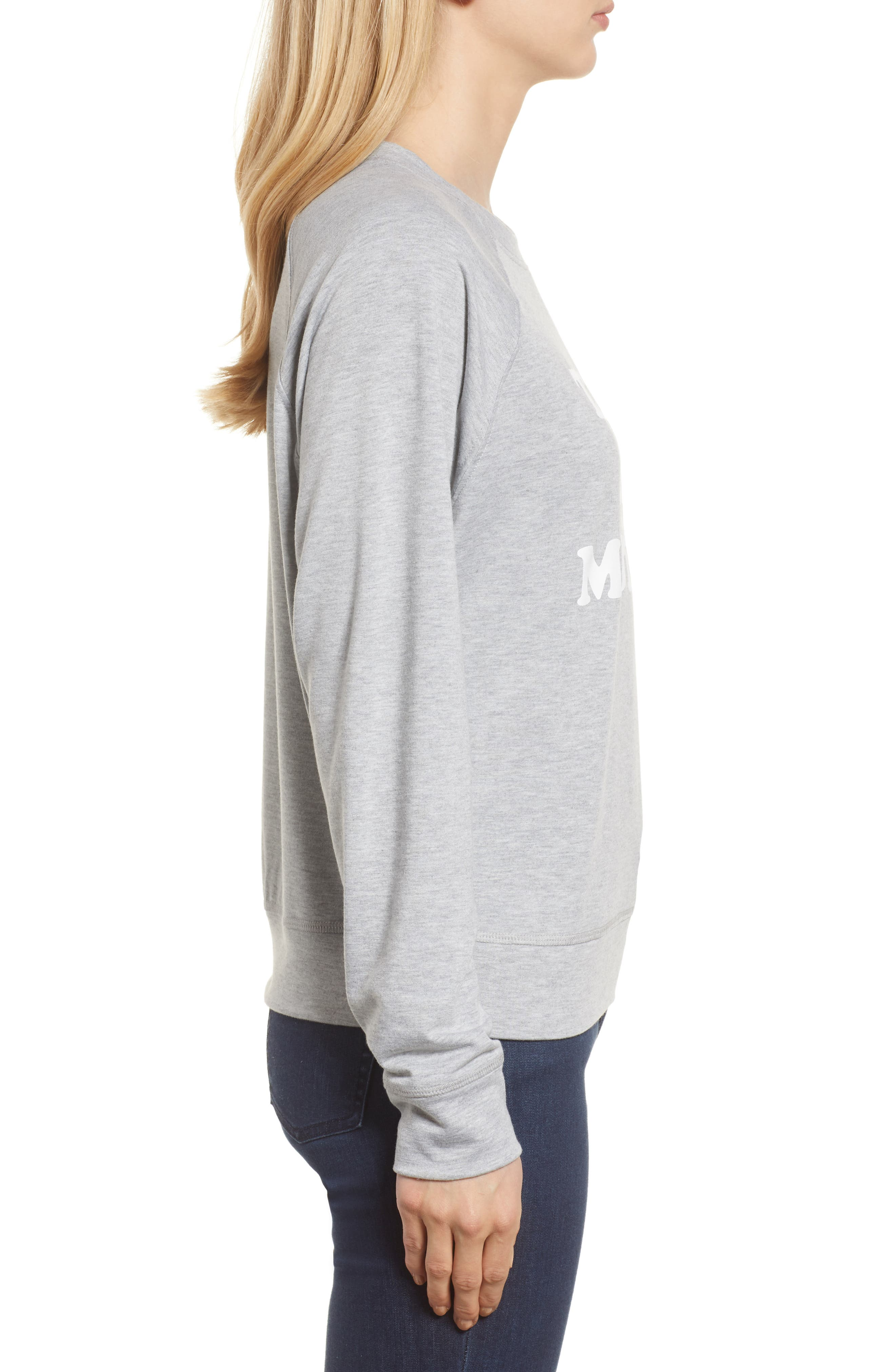 Off-Duty Tired as a Mother Sweatshirt,                             Alternate thumbnail 3, color,                             Grey Heather